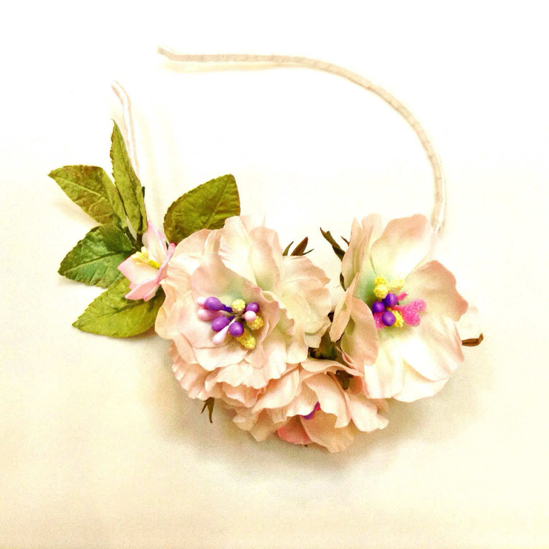 необычное цветы розы фоамиран праздник украшение ободок новый год эксклюзив снежинка