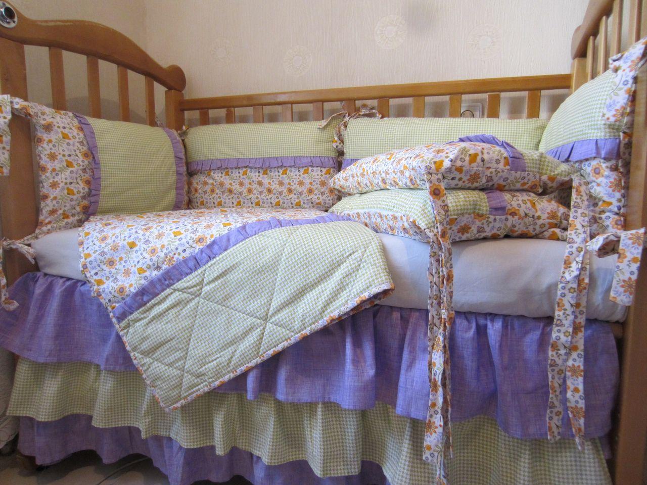 текстиль комплект детский малышам кроватку