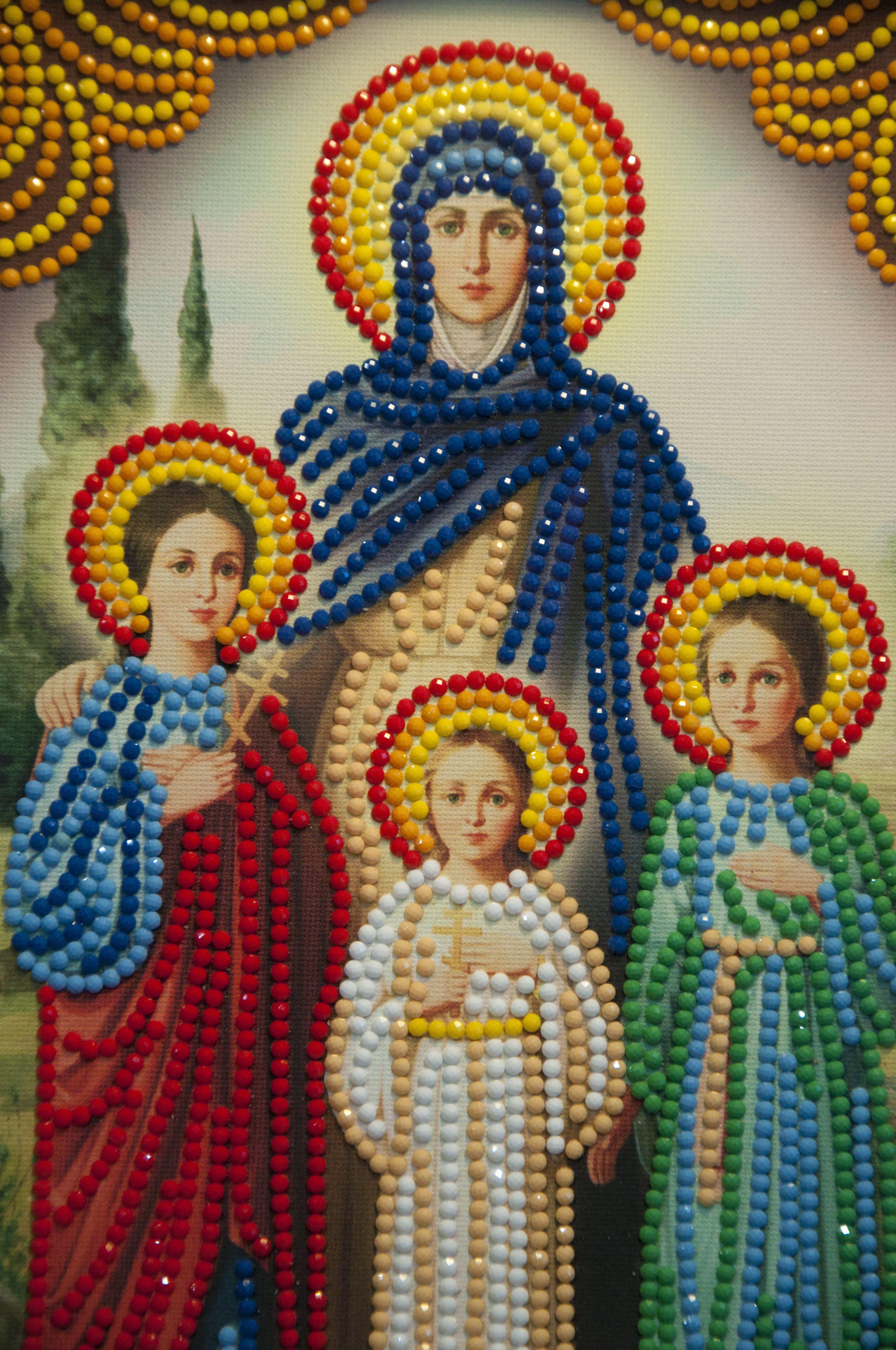 дом иконы назаказ молитва святые семья подарок ручнаяработа