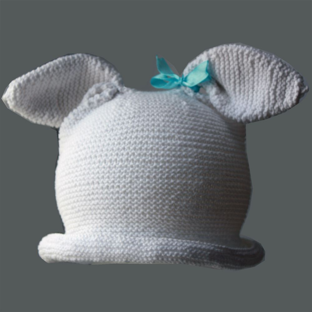 спицами кролик летняя полями заячьи оригинальная уши вязаная шапка хлопок шляпка авторская ушки шапочка заяц с стильная бантик лето