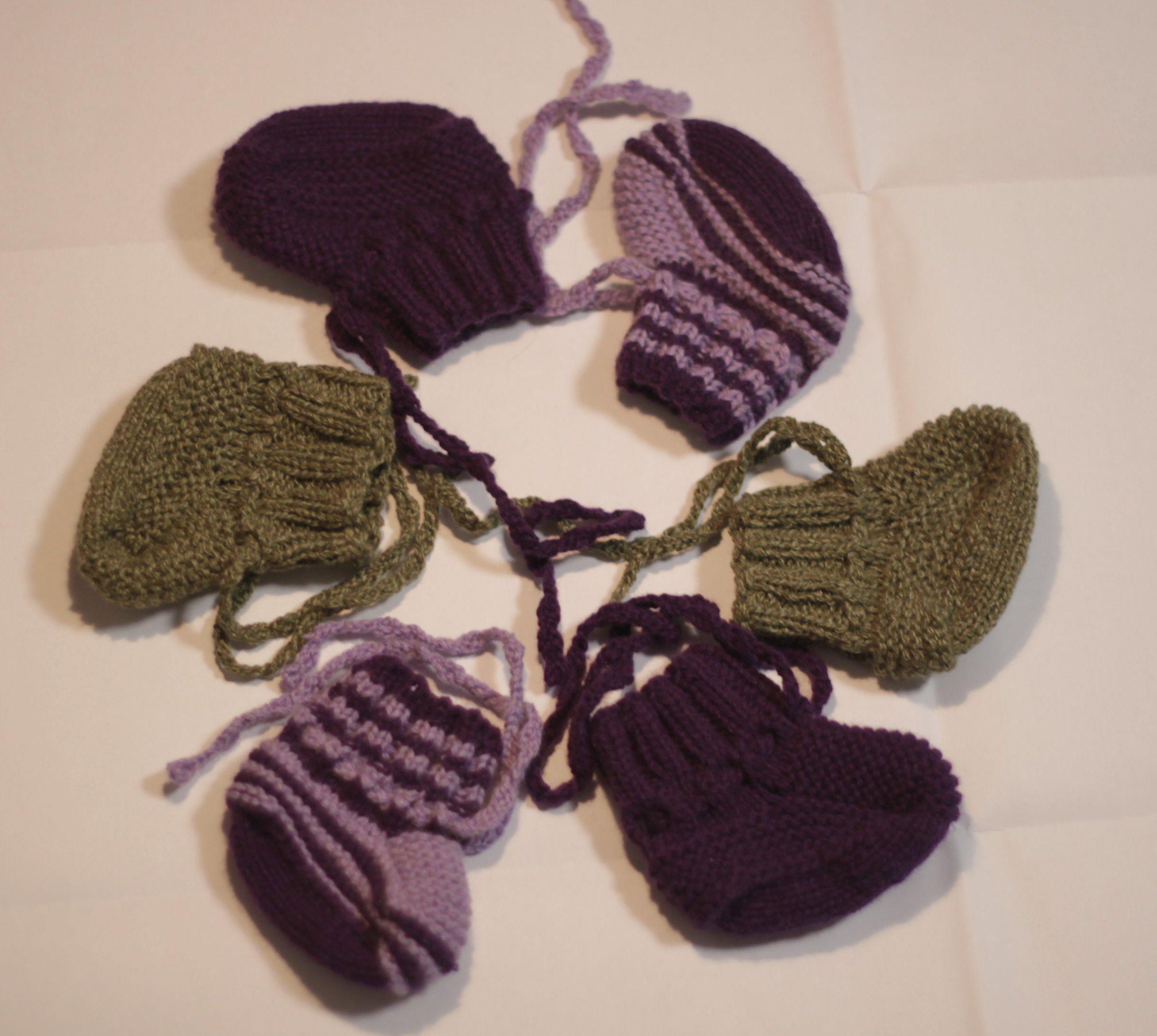 вязание пинетки спицами ручное