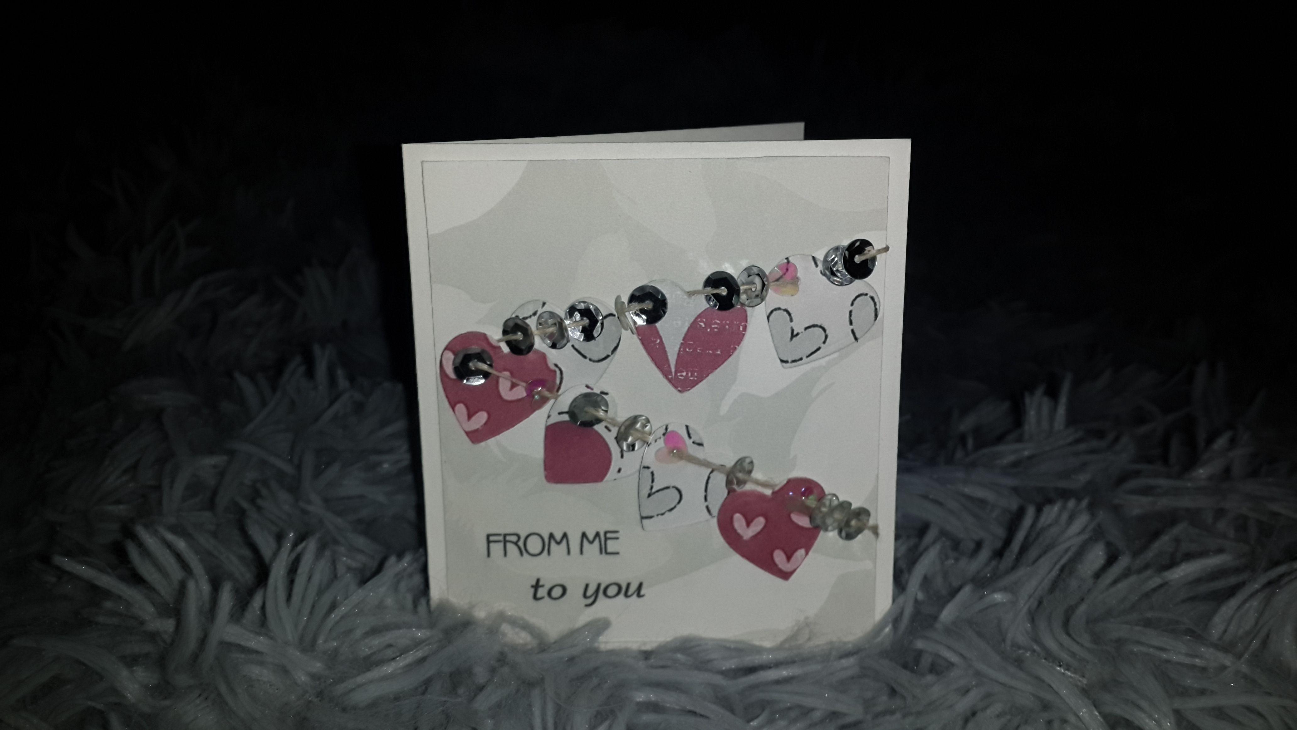 скрапбукинг валентинка сердце любовь ручная открытка скрапоткрытка работа