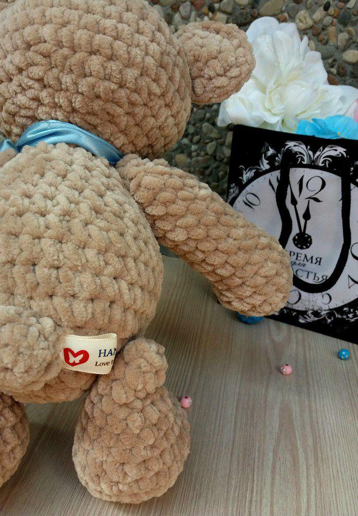 made_by_nika ручнаяработа вязаный медведь мишка игрушка длядетей плюшевый назаказ подарок крючком