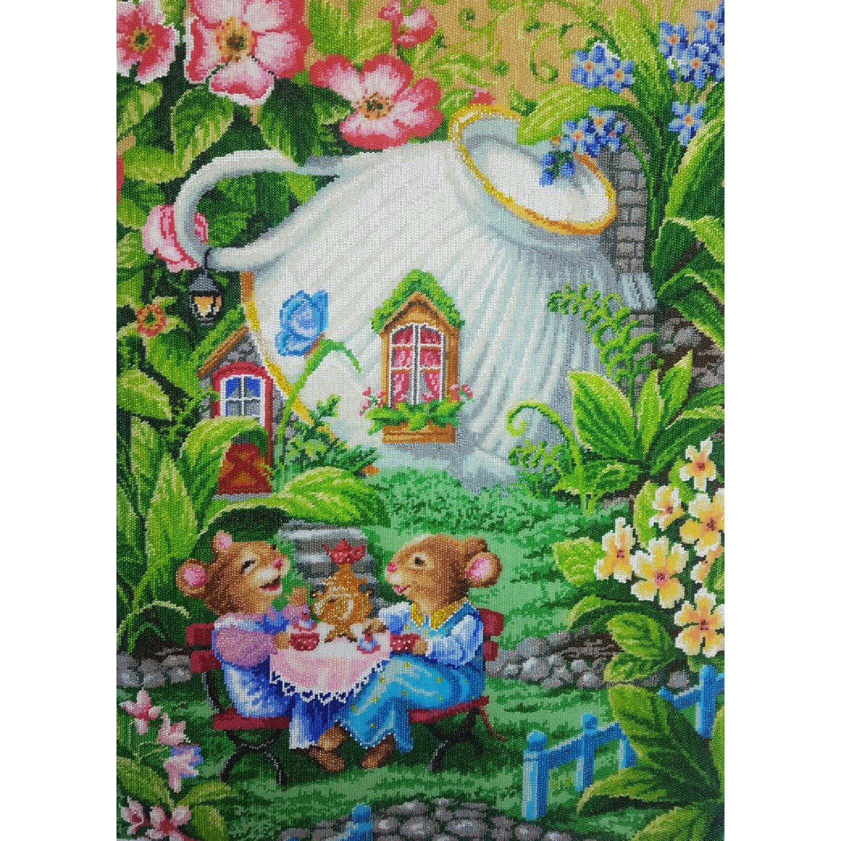 искусство for mouse handmade picture embroidery beadwork kitchen хохотушки бисером вышитая работа art картина бисера готовая мышки