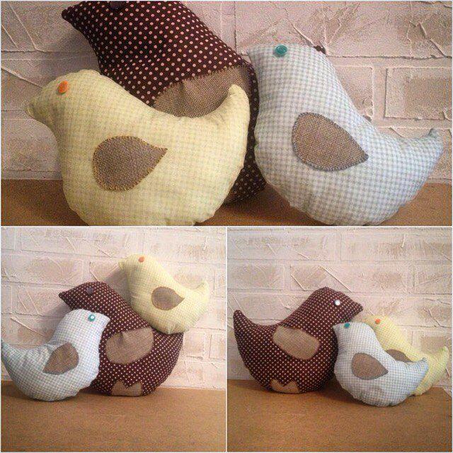 подушки бортики игрушки птички