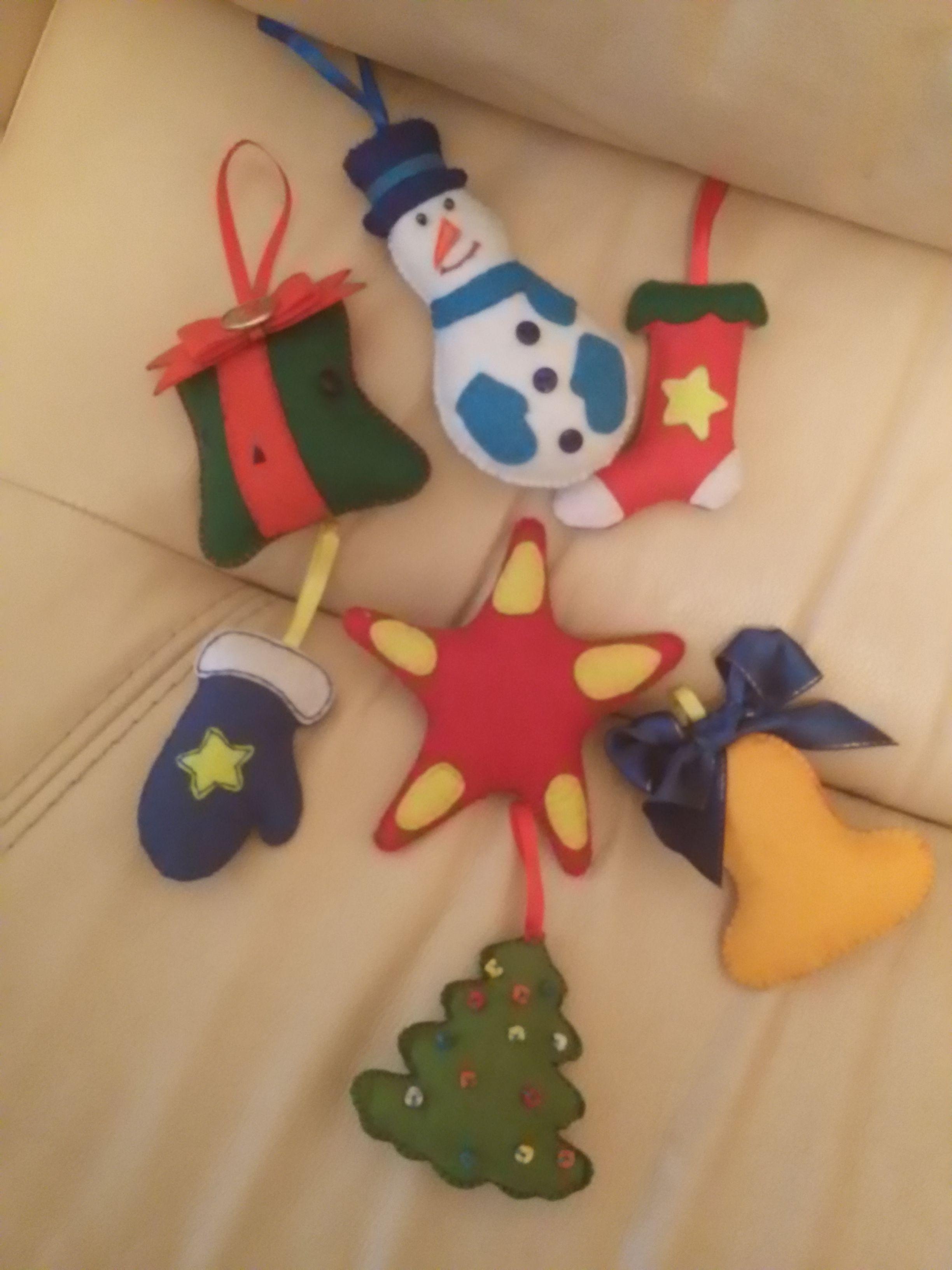 фетра игрушки новогодние из