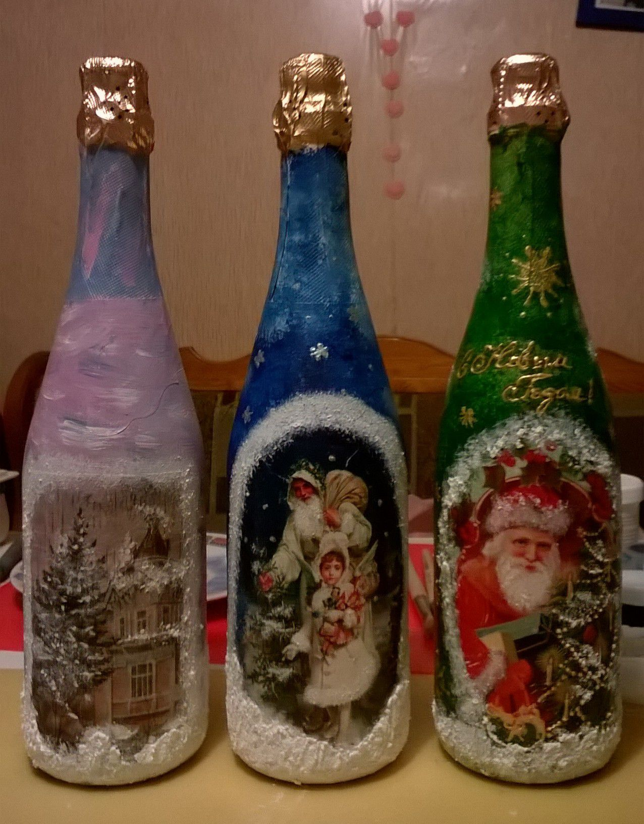 мороз новый декор дед белый год зеленый снег красный подарок