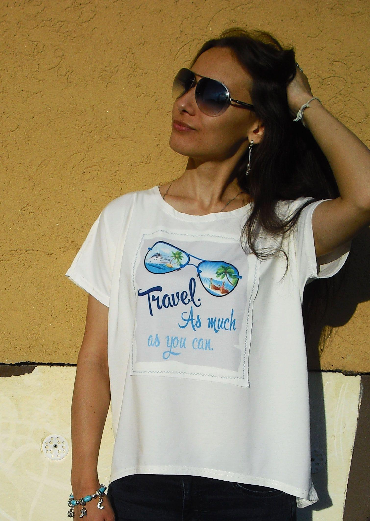 принт белый очки молочный футболка цвет дизайнерский путешествия нашивка трикотаж хлопок