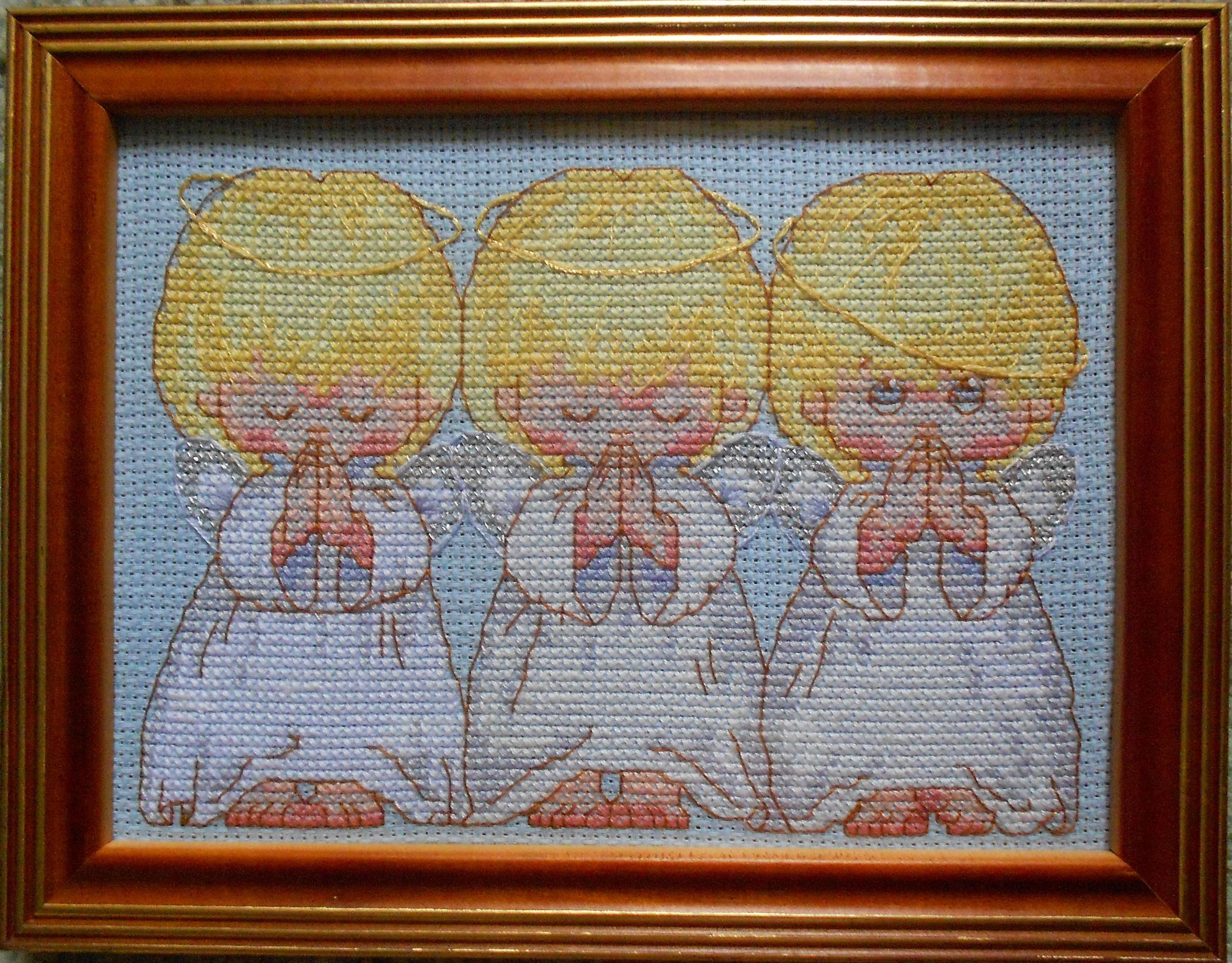 вышивка картины дети