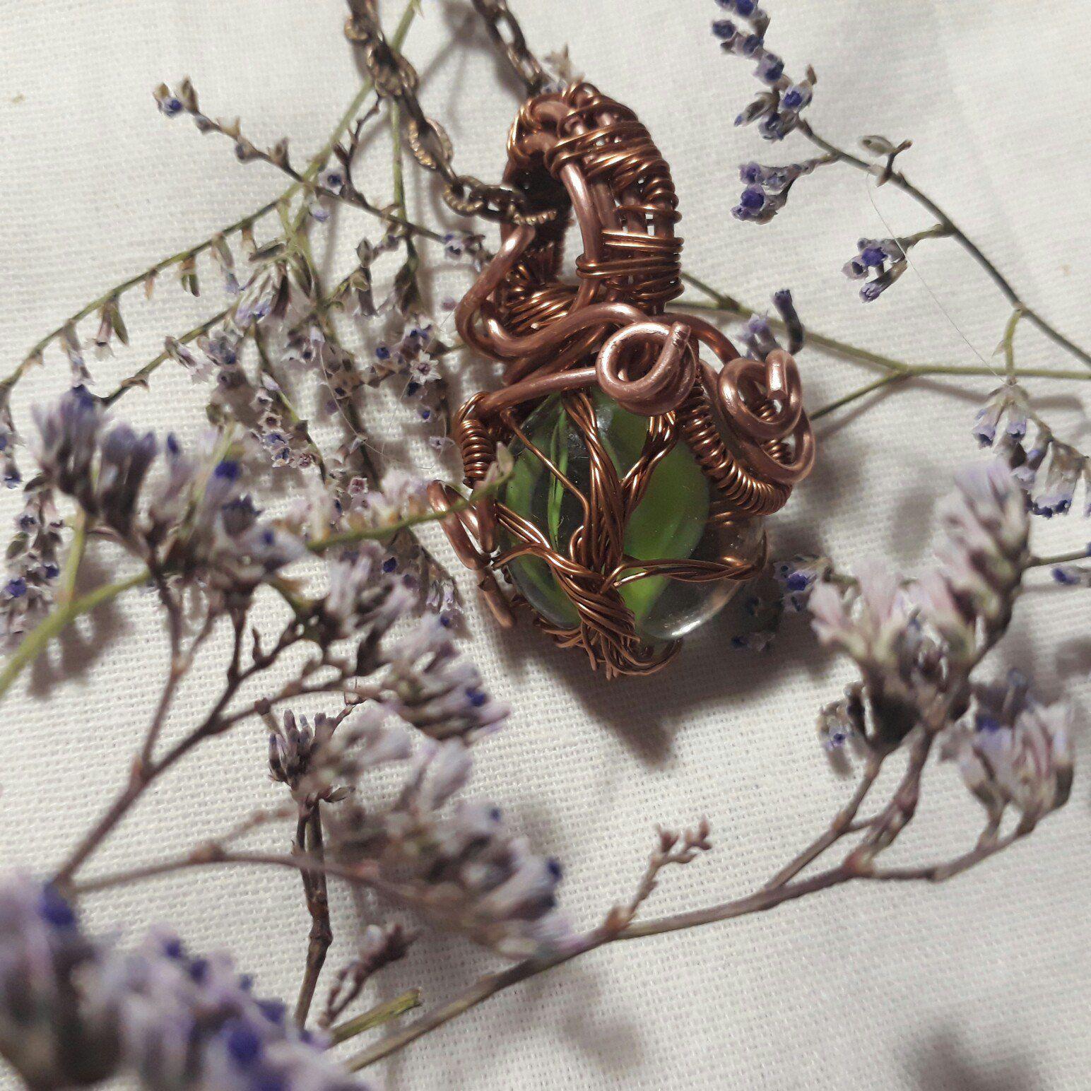 колье ручнаяработа природа кулон handmade подвеска дерево иггдрасиль медь