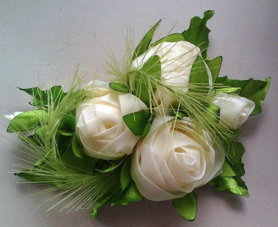 made канзаши украшения hand волос для ручная ленты цветочки работа резинки