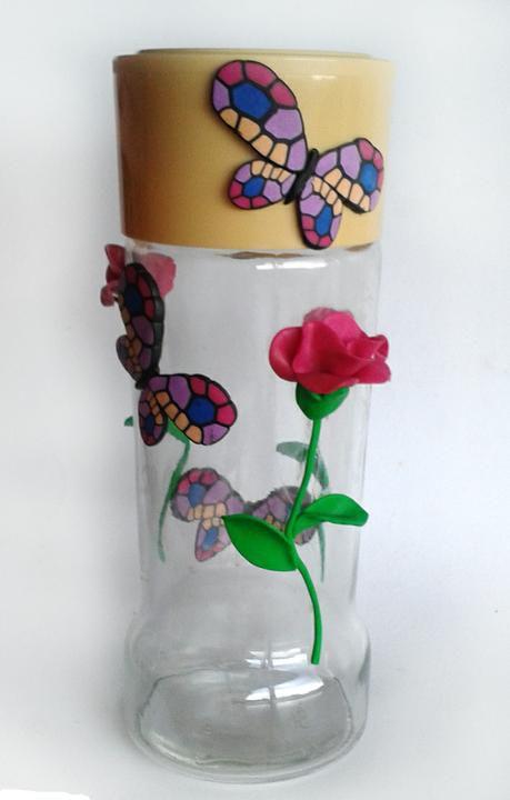полимерная глина банка лавовая декор интерьерная мастеркласс необычное