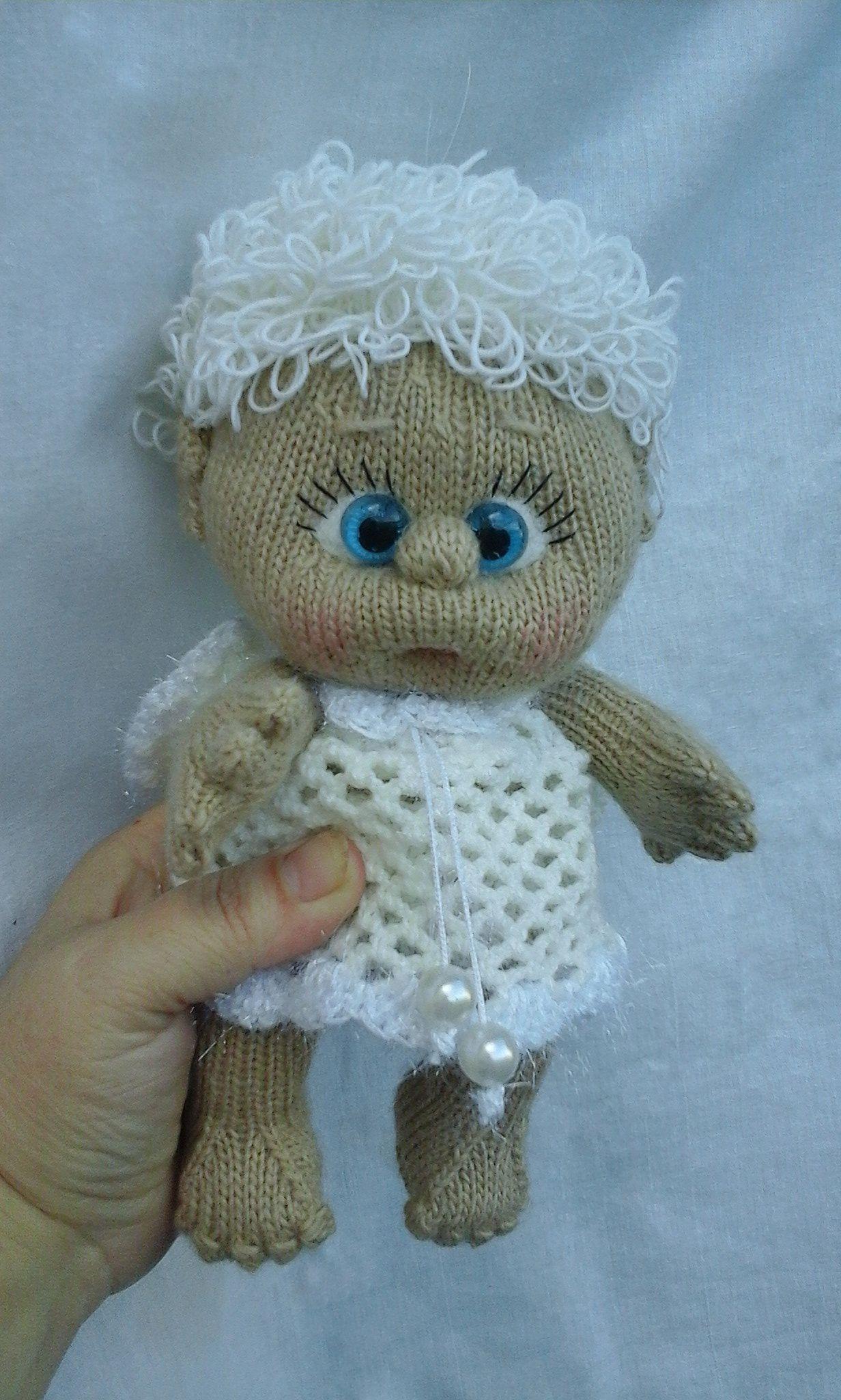 игрушка вязаная кукла интерьерная ручнаяработа