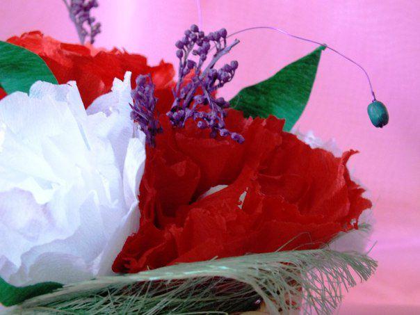 ручнаяработа 8марта подарок букетизконфет цветывкорзинке пионы любимой