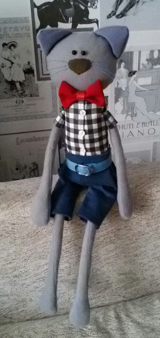 игрушка кукла рукам флис мягкаяигрушка кот своими