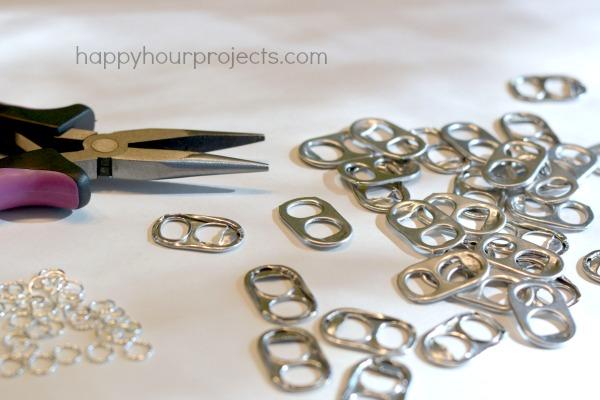 руками из переработка браслет банок алюминиевых ключей от идеи своими