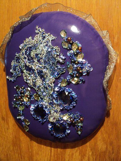 aббигли вышитая вышивка цветы handmade фиолетовый картины ручная панно работа картина