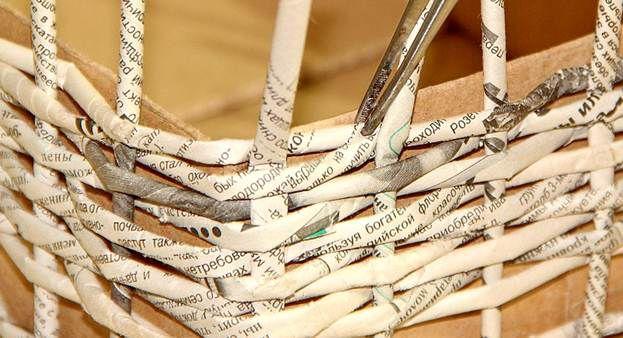 Плетение из газет 24
