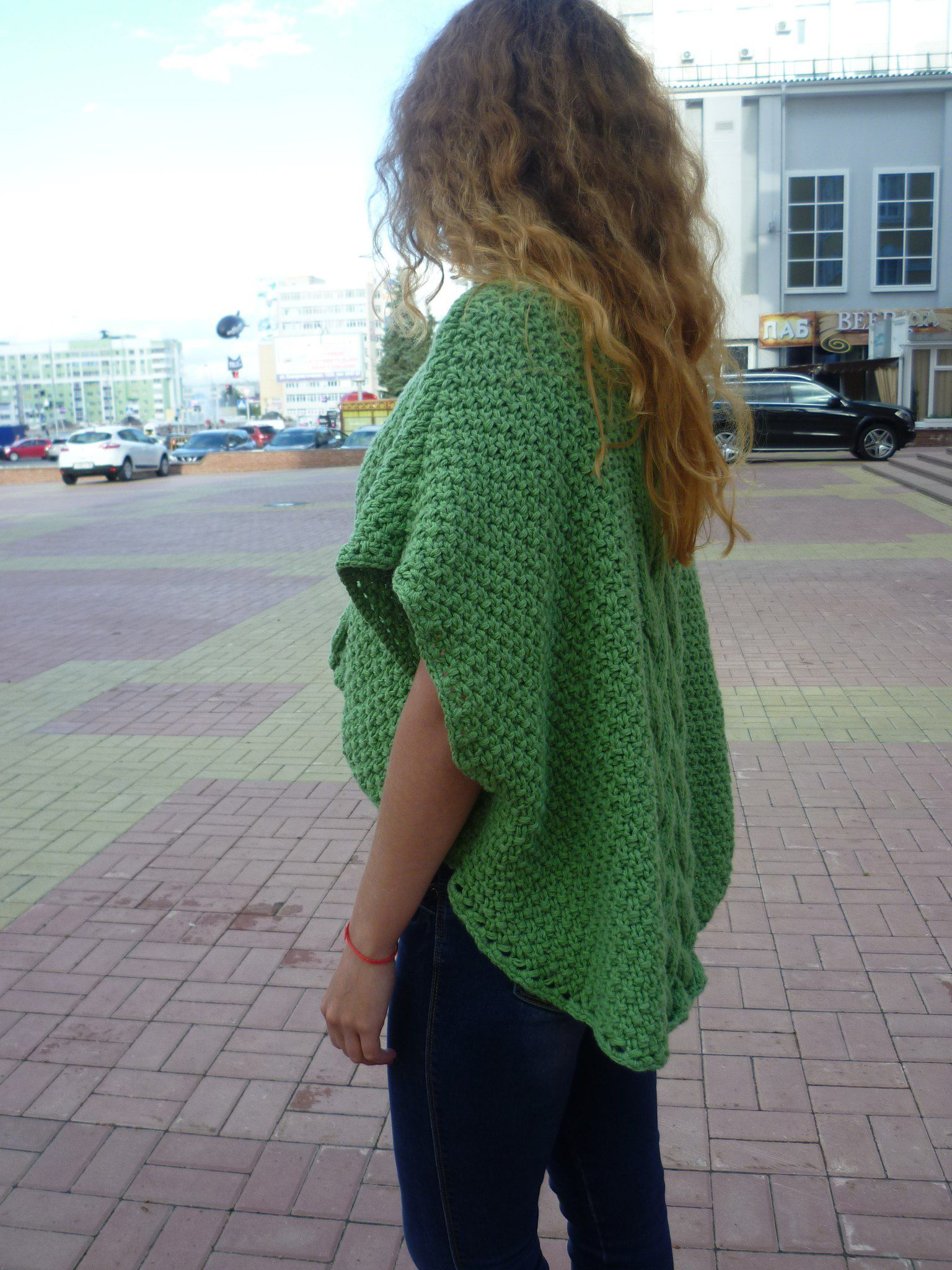пуловер пончо пуловер-пончо