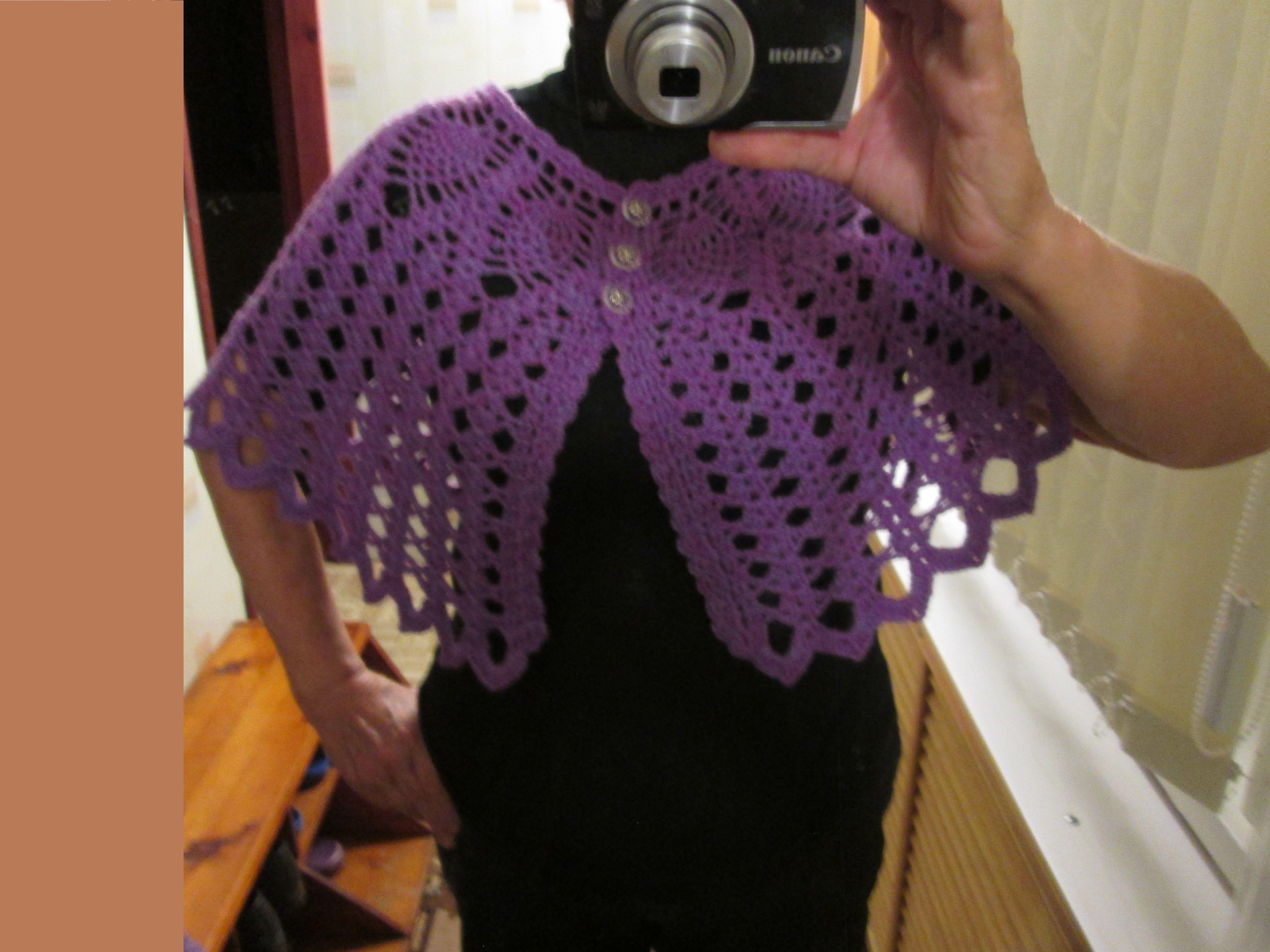 одежда накидка вязание праздник болеро крючком пелерина ручнаяработа нарядное женщине