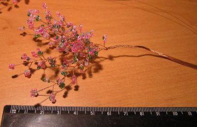 Деревья из бисера мастер класс 7