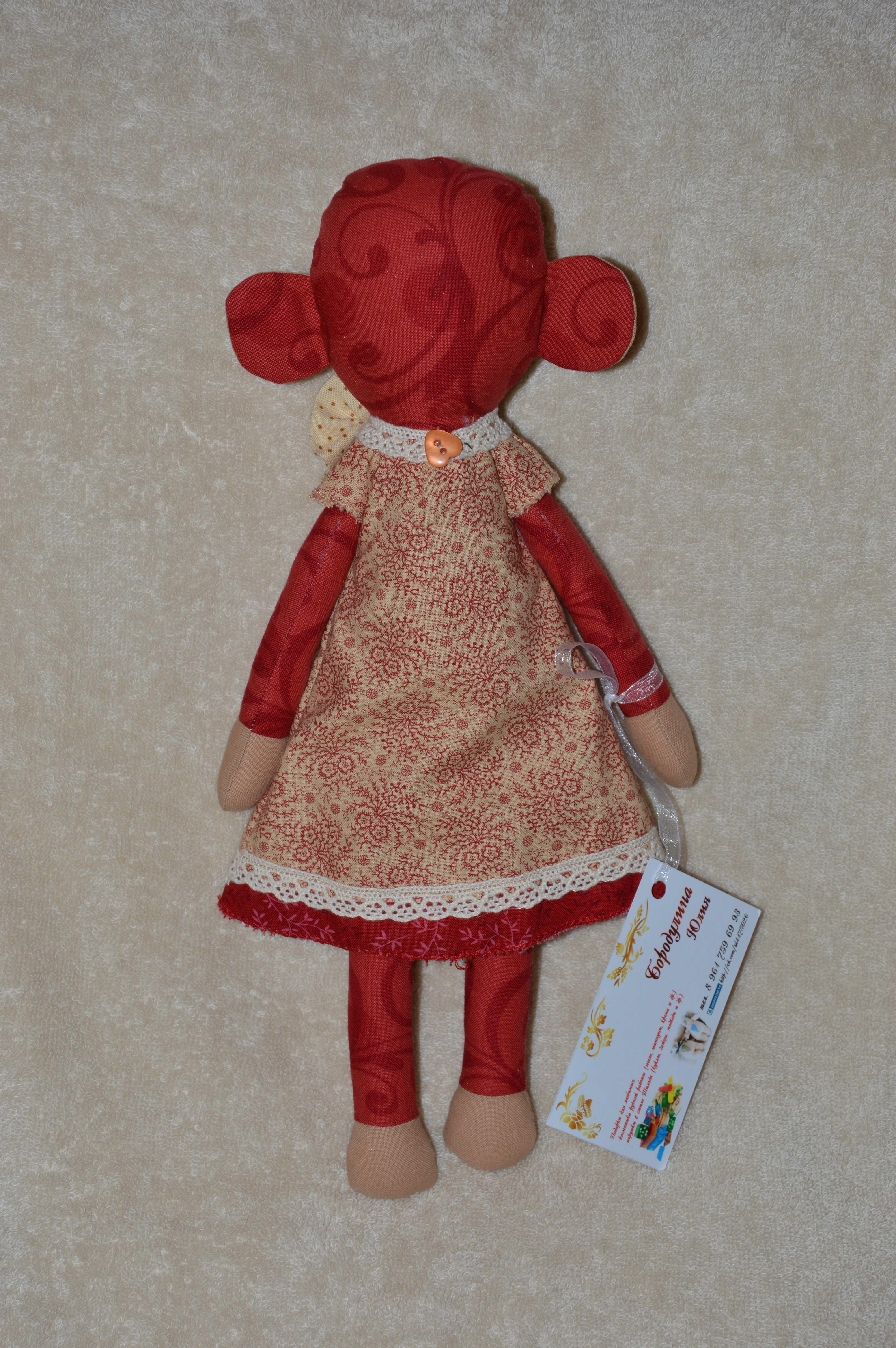 интерьерная огненная обезьяна игрушка пермь год новый красный стиле тильда подарок в