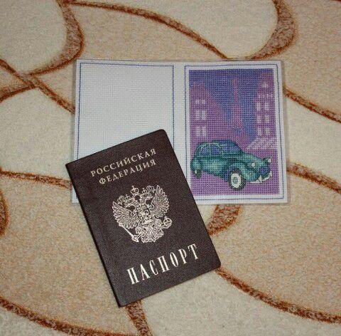 паспорт вышивкакрестом обложка вышивка