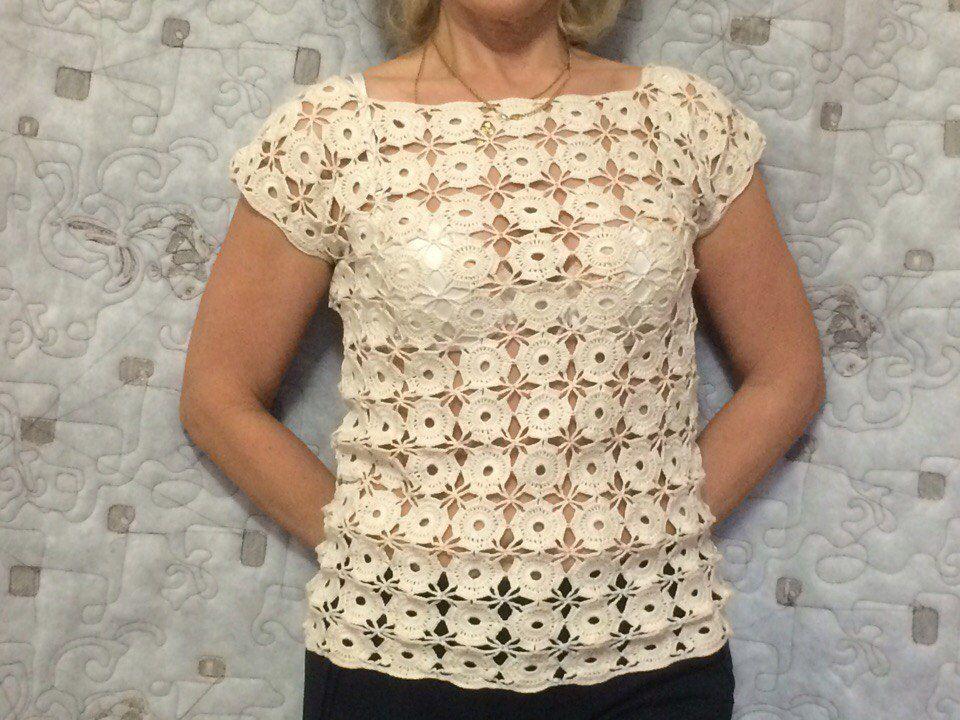 ручнаяработа кружево вязание блузка продажа хобби