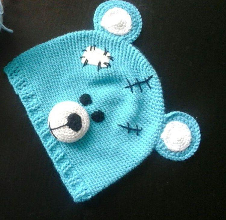 крючокпряжа весна шапка на заказ вязание дети мишка