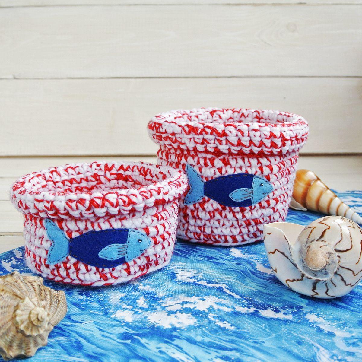 порядок декор детям хранение туесок море рыбка подарок