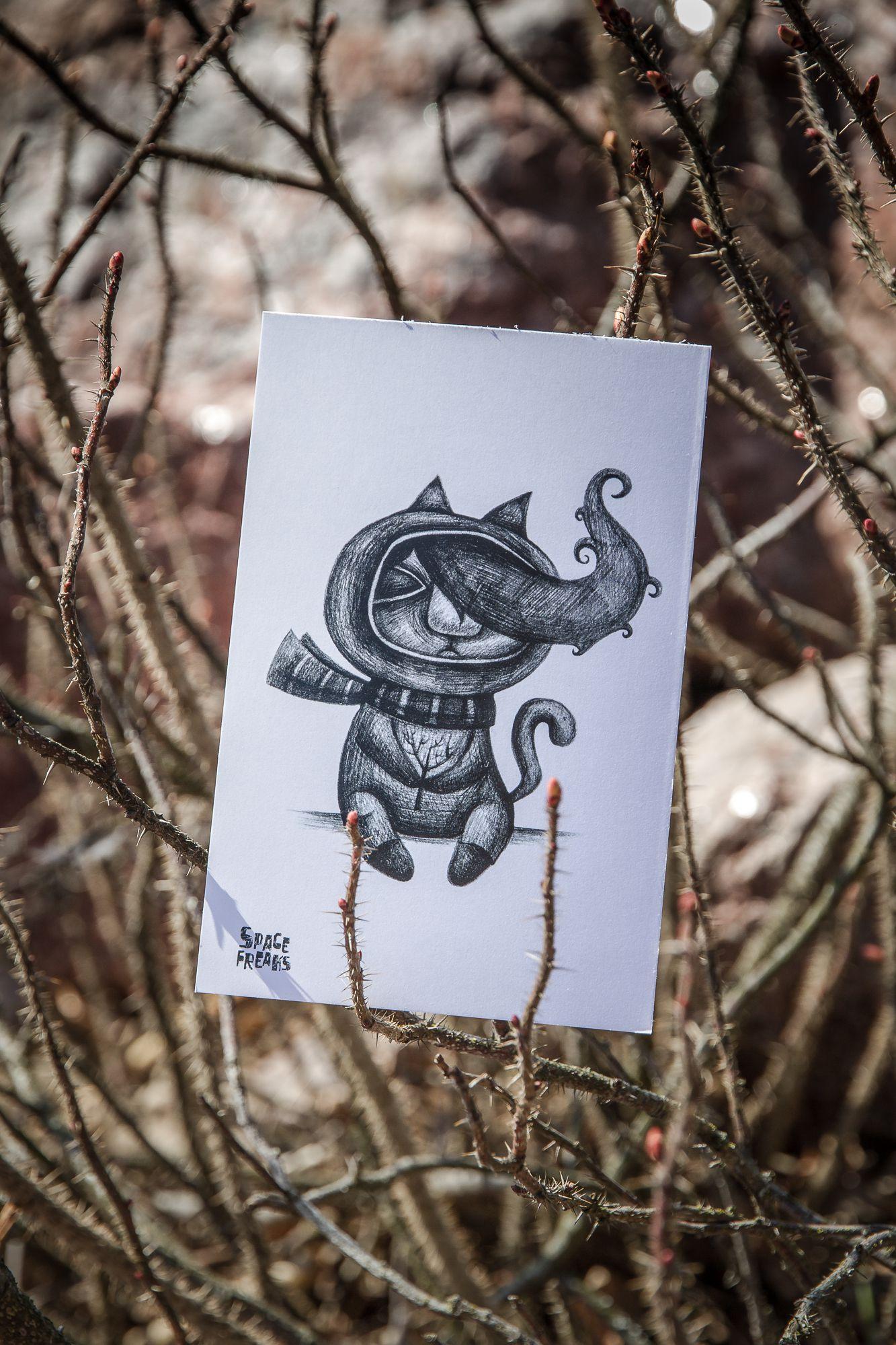 remembrance surprise card gift сюрприз знаквнимания открытка подарок мыслитель. spacefreaks