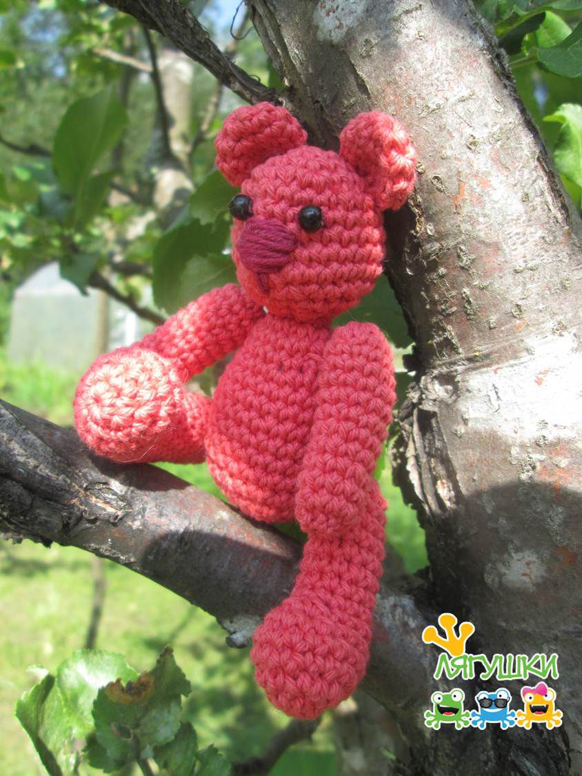 медведь трилягушки gift softtoy bear teddybear мягкаяигрушка handmade мишка тедди детям craft вязанаяигрушка медвежонок