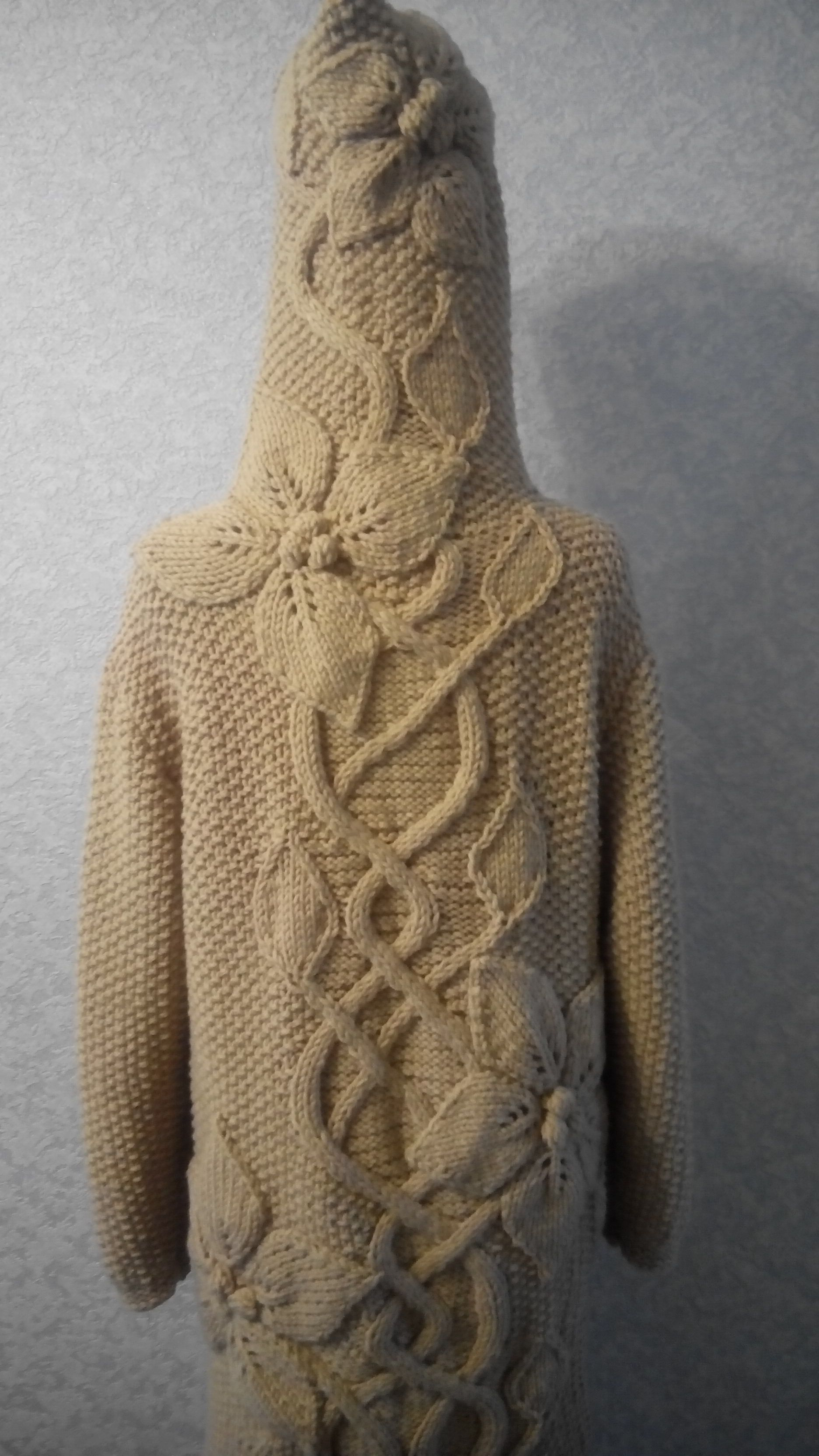 камышин вязание пальто одежда цветы