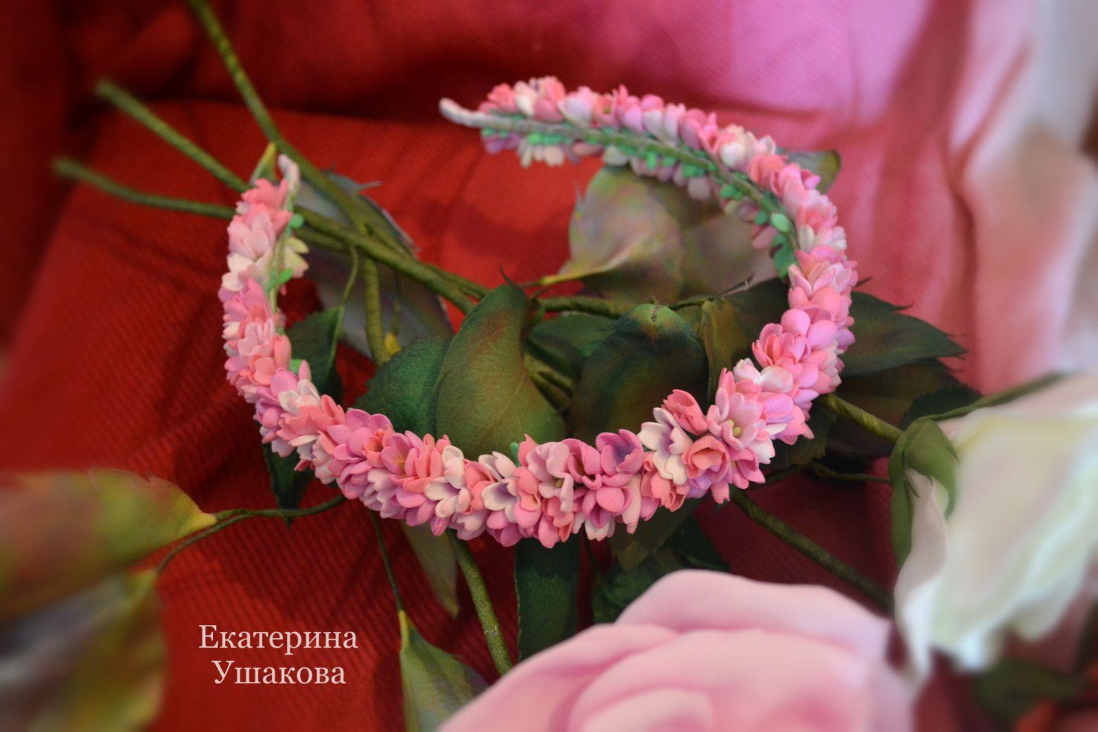розовый цветочныеоблака ободок ободоксцветамизфоамирана ободокдлядевочки екатеринаушакова ободокдлядевушки