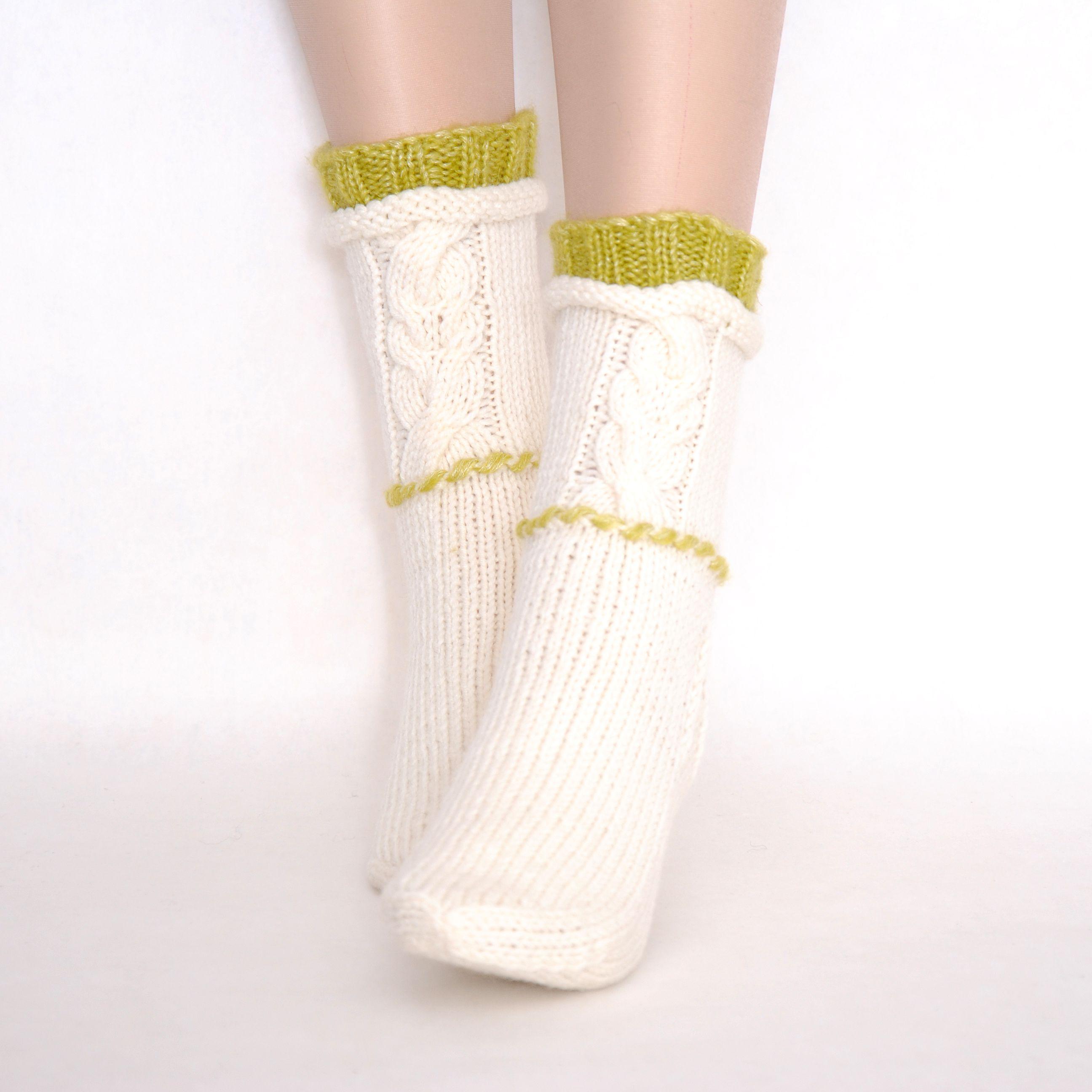 вязаные модные носочки купить шерстяные женские носки подарок