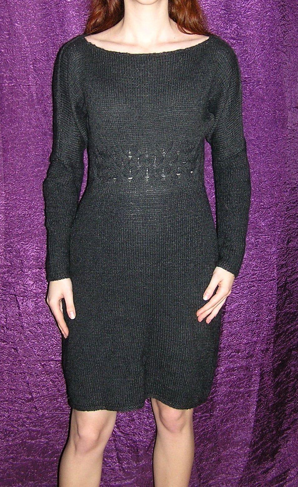 платье вязаноеплатье платьескосами платьезимнее платьевязаное