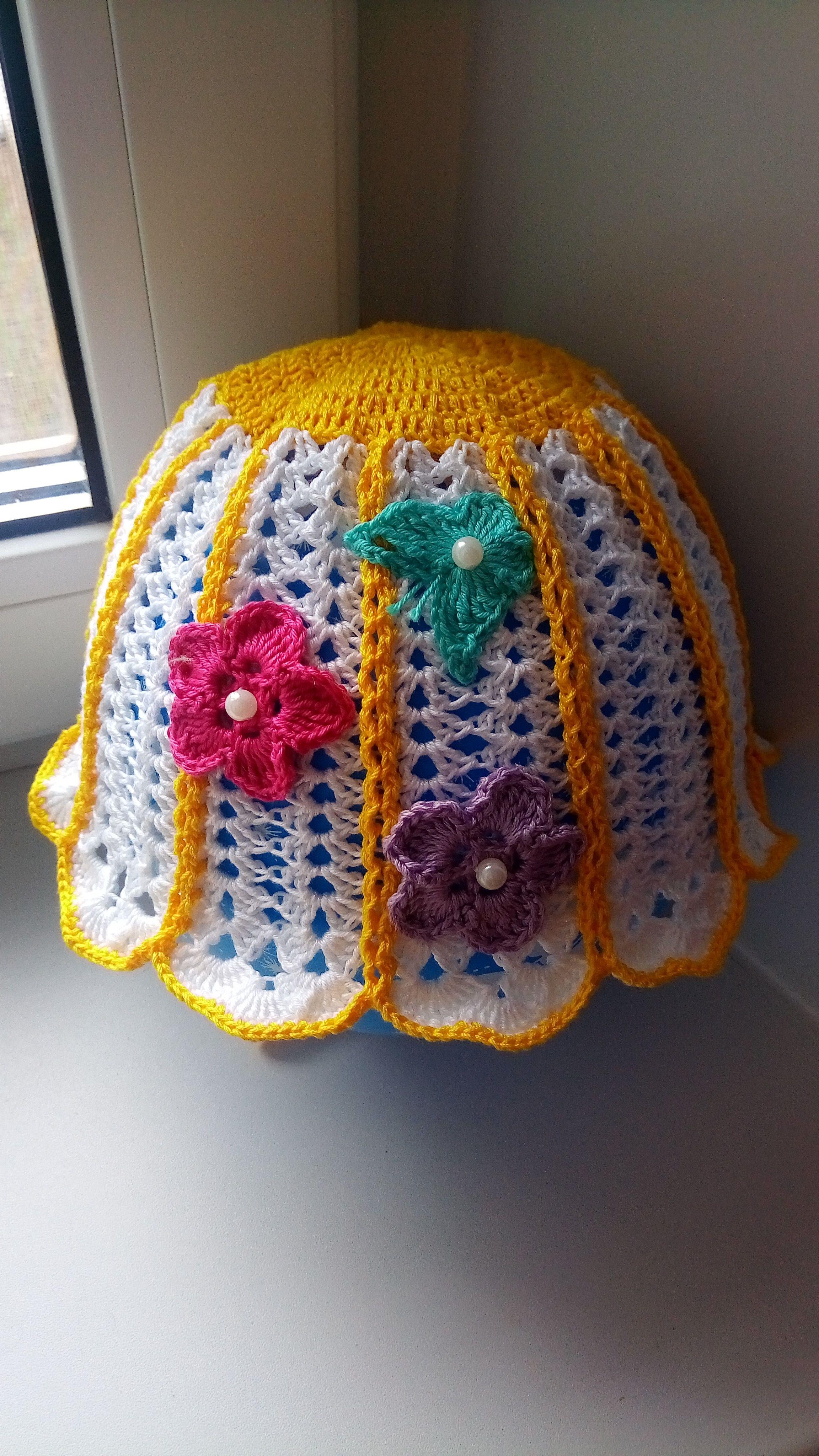 вязание панамки для девочек детей крючком