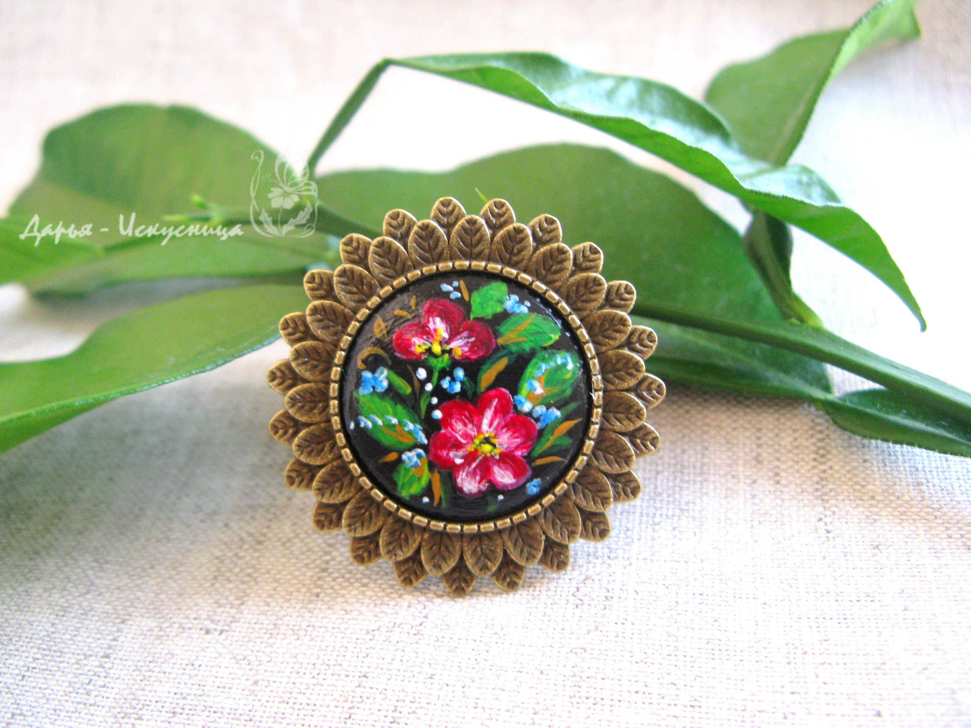 ручнаяработа подарок авторское роспись кольцо handmade авторскоеукрашение