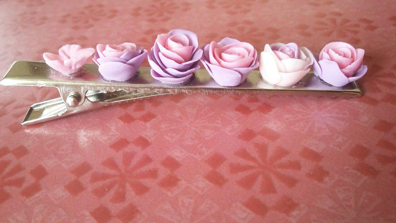 полимерная глина заколки девочкам волосы красота handmade свадебнаяпричёска украшениевволосы розы украситьпричёску подарки причёска бижутерия