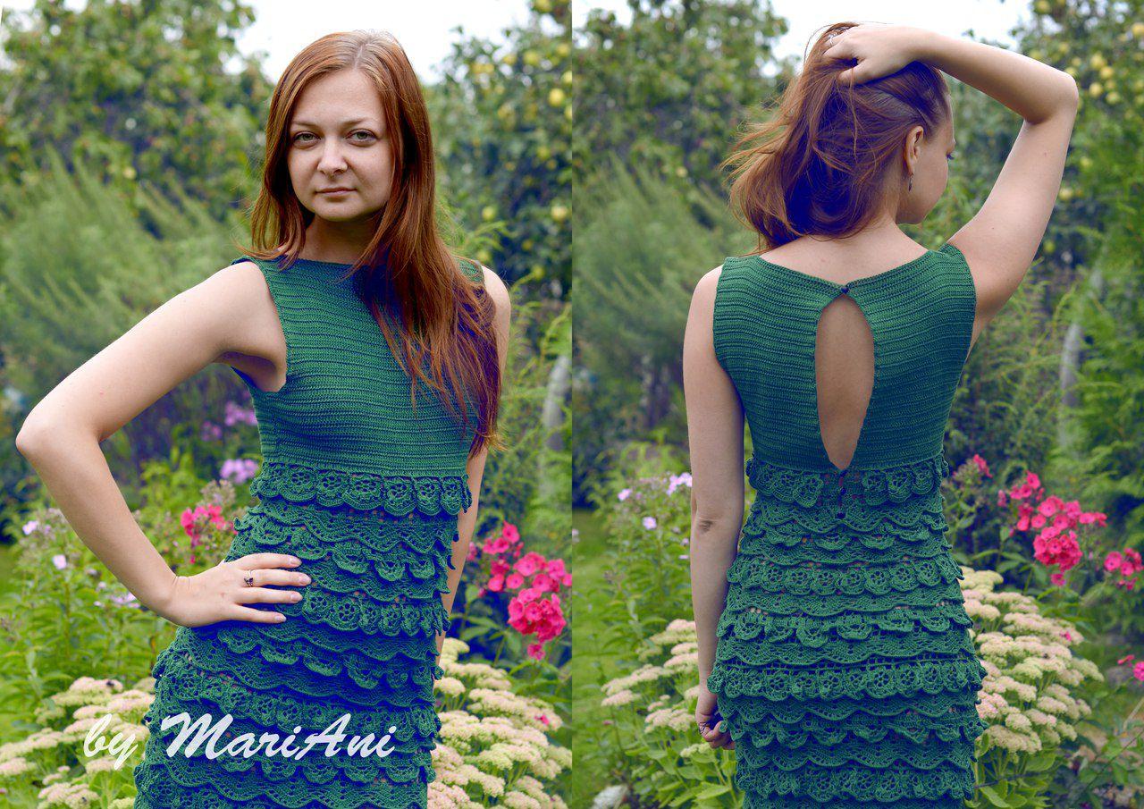 ручная вязание кружево работа платье
