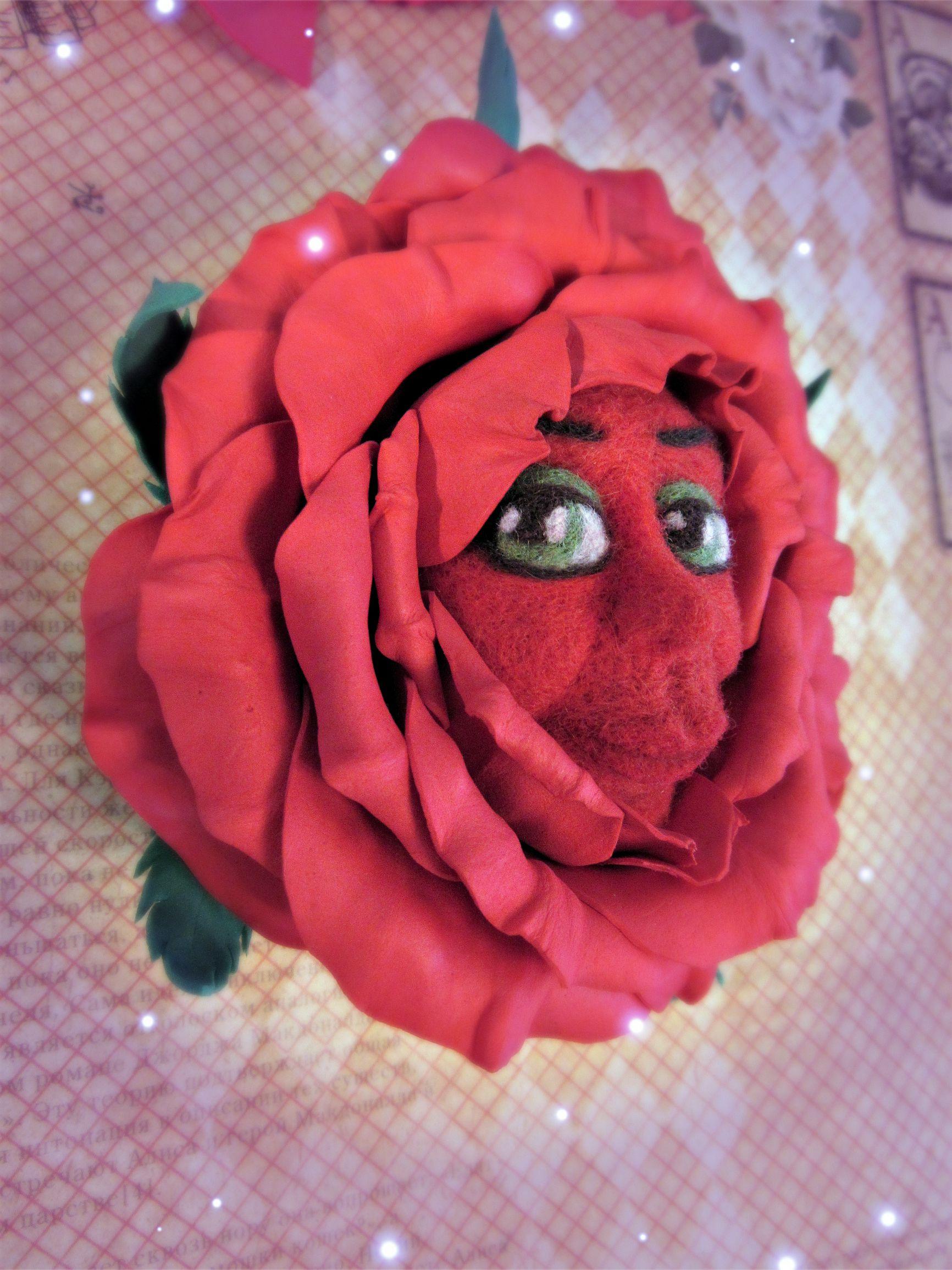 валяние заколка брошь стране чудес фоамиран алиса felting розы