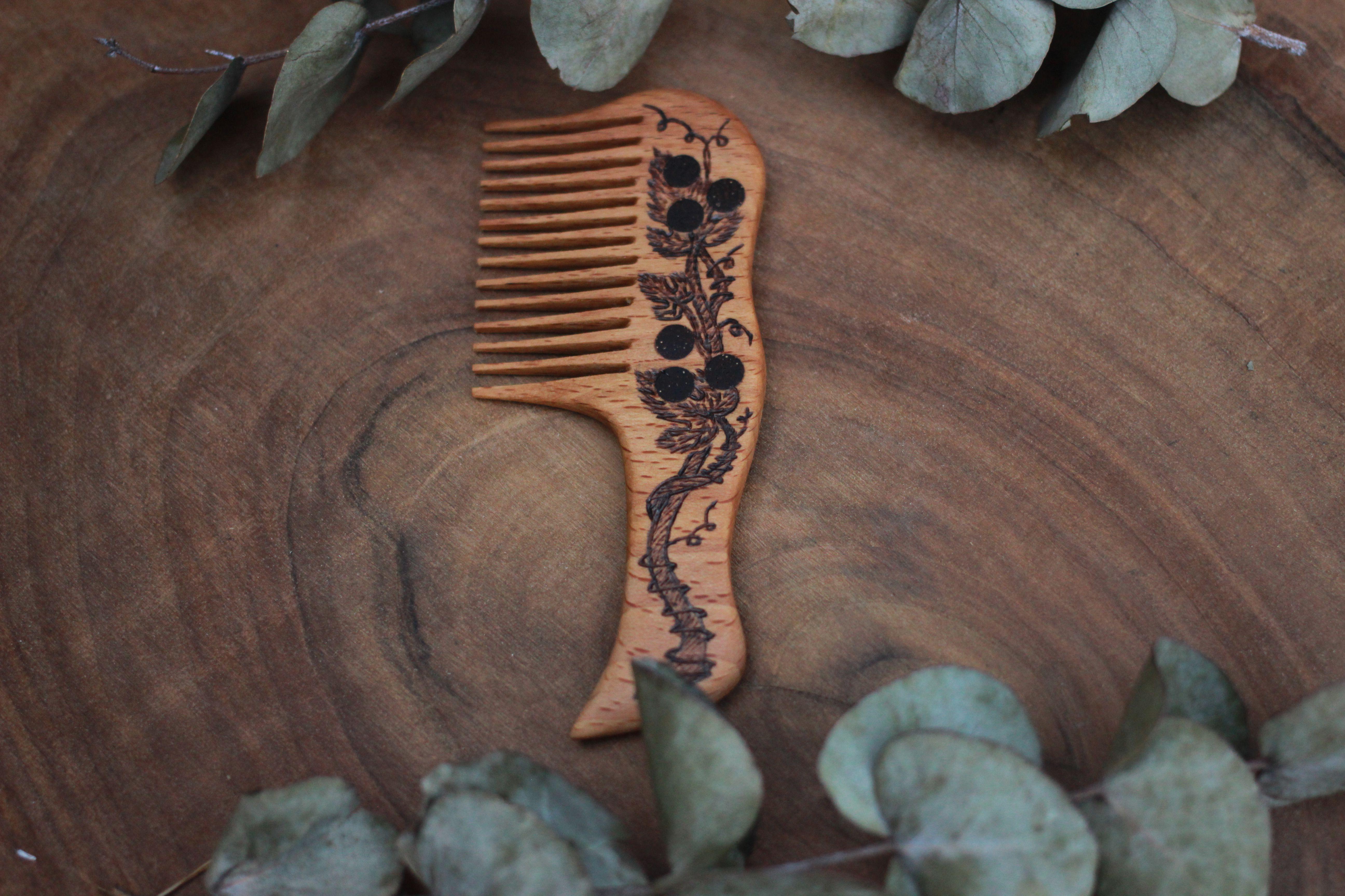 девочке выжигание девушке расчёска дерево дляволос ручная подарок женщине резьба