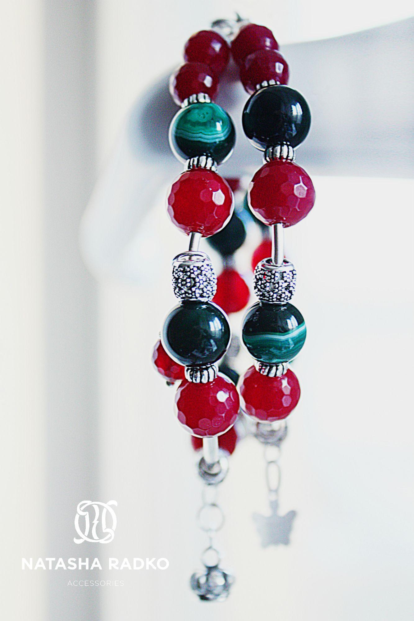 агат браслеты красота украшения вкус родохрозит уникальность творчество