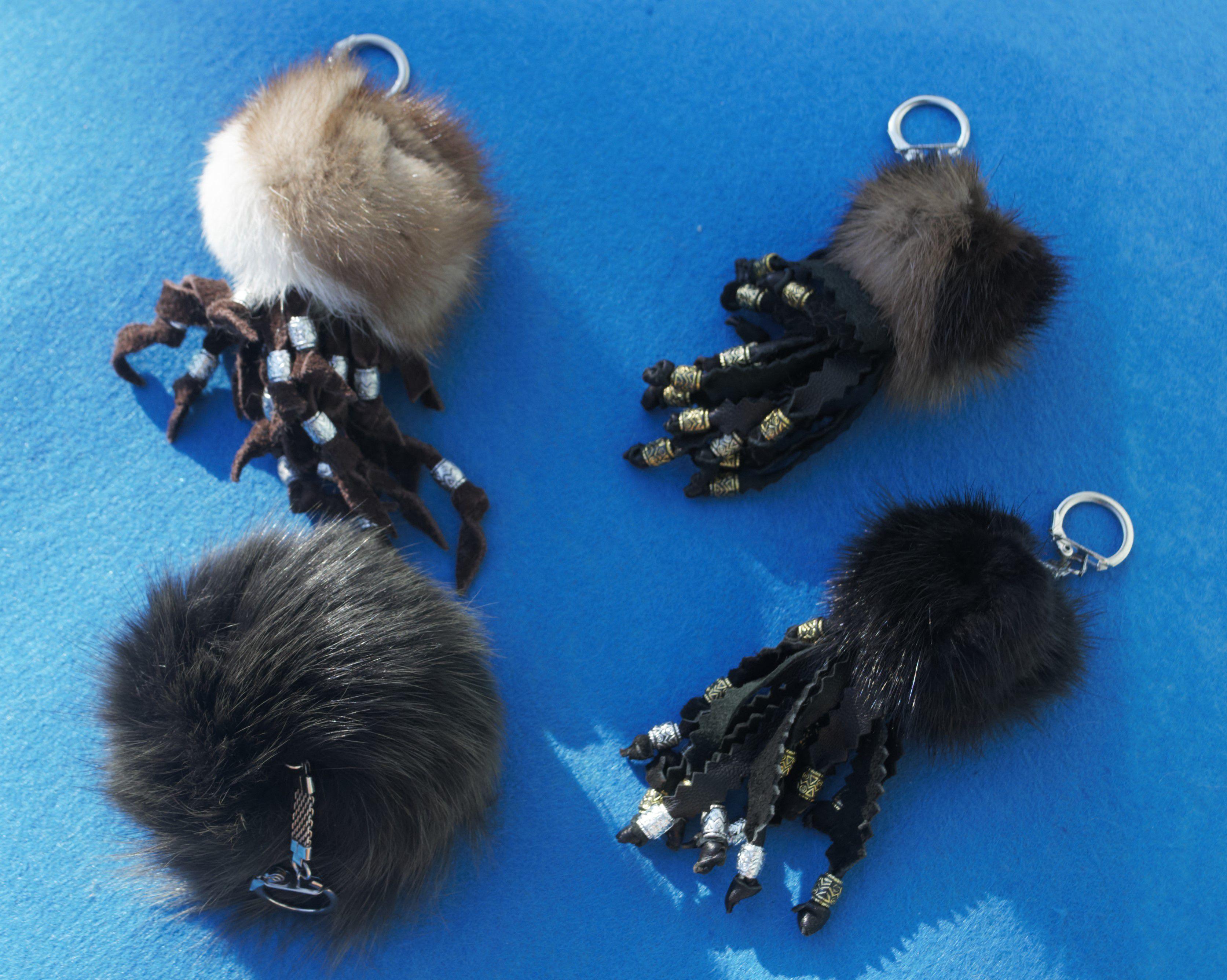 подвески яркие мех яркая для пушистый брелок кошелька брелоки натуральный меховой подвеска сумки меха