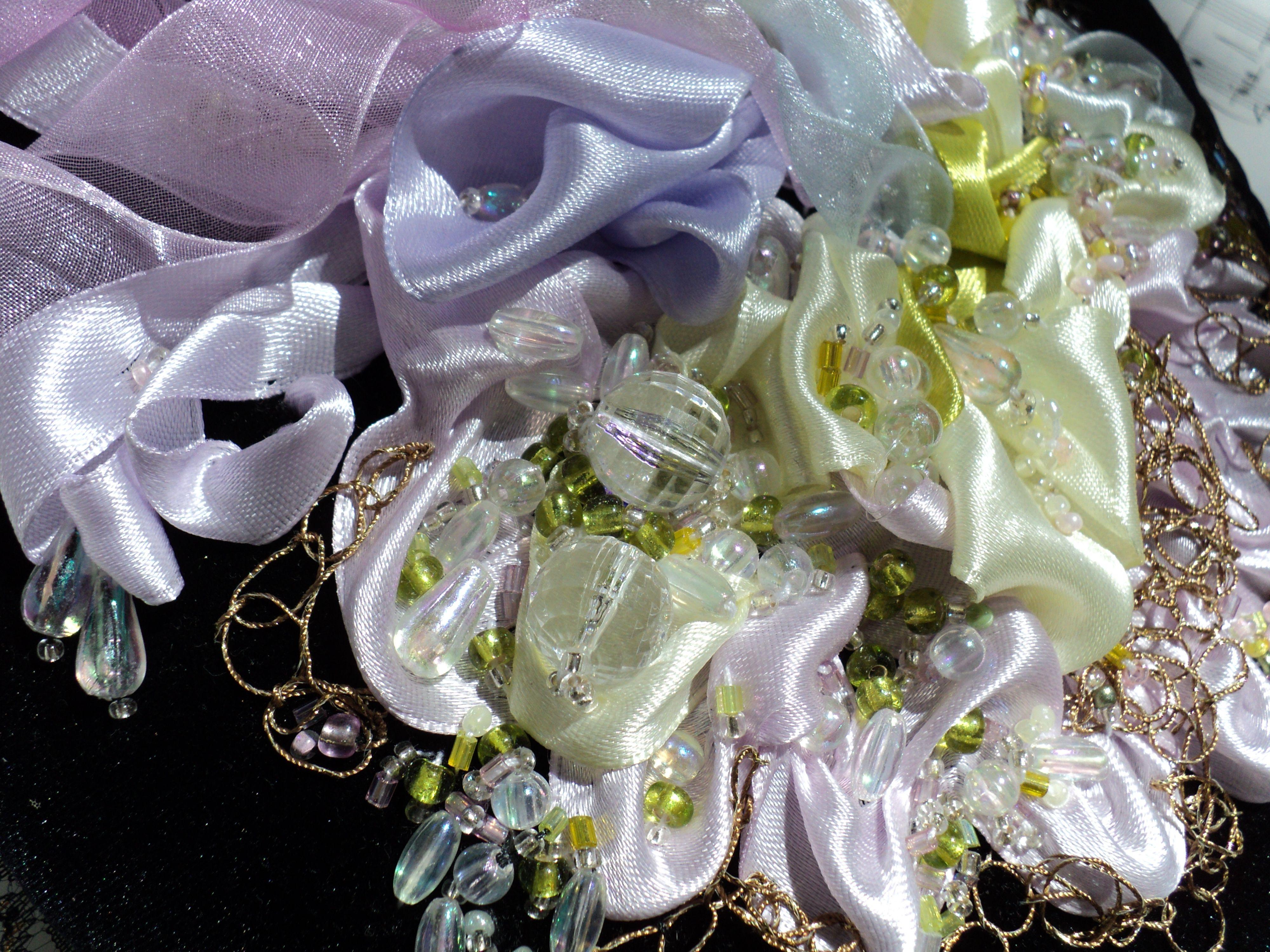 вышитая вышивка цветы авторская панно фэнтези картины работа картина