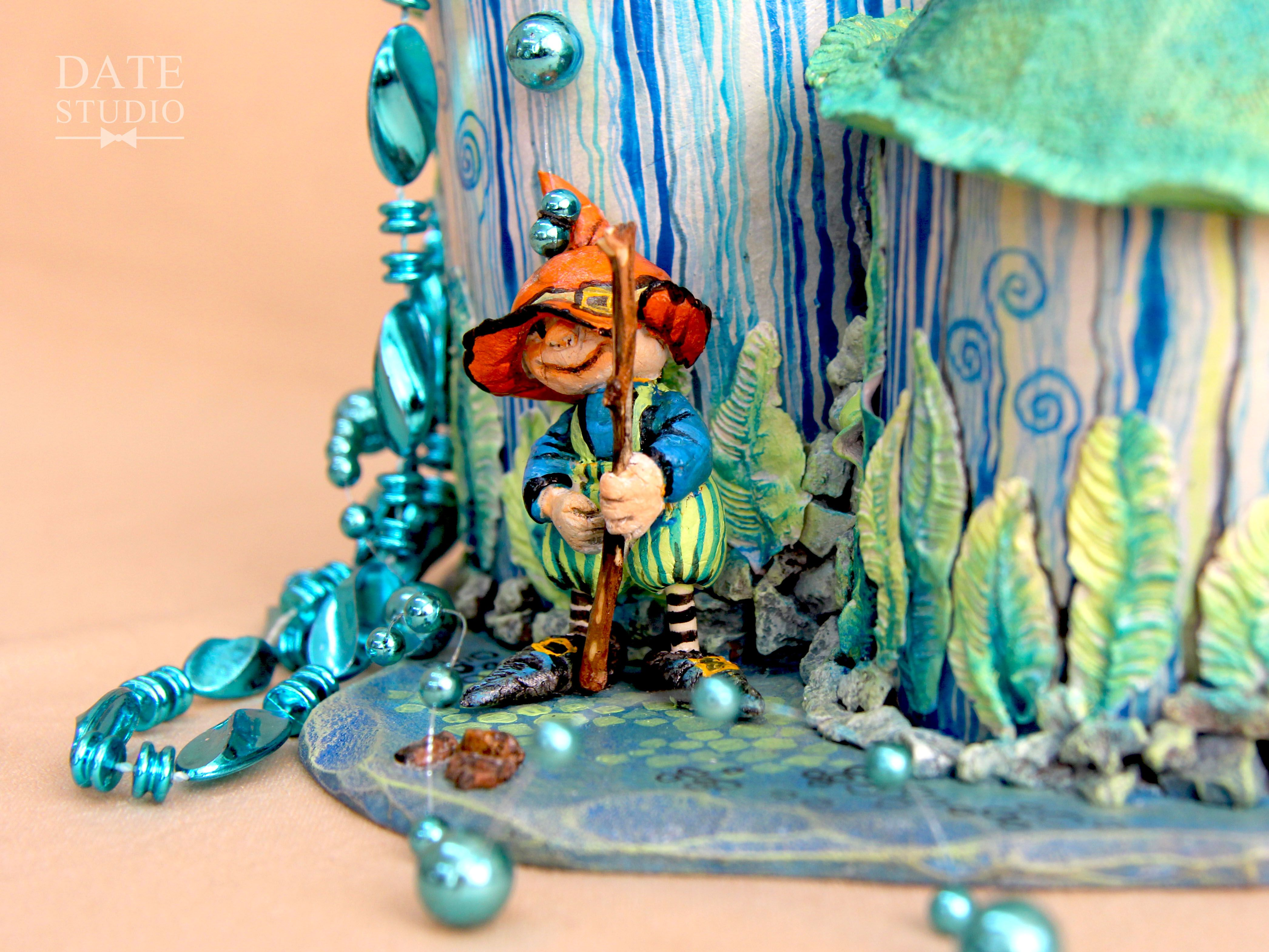 женщине подарок гномик декор интерьер шкатулка детали девушке бижутерия