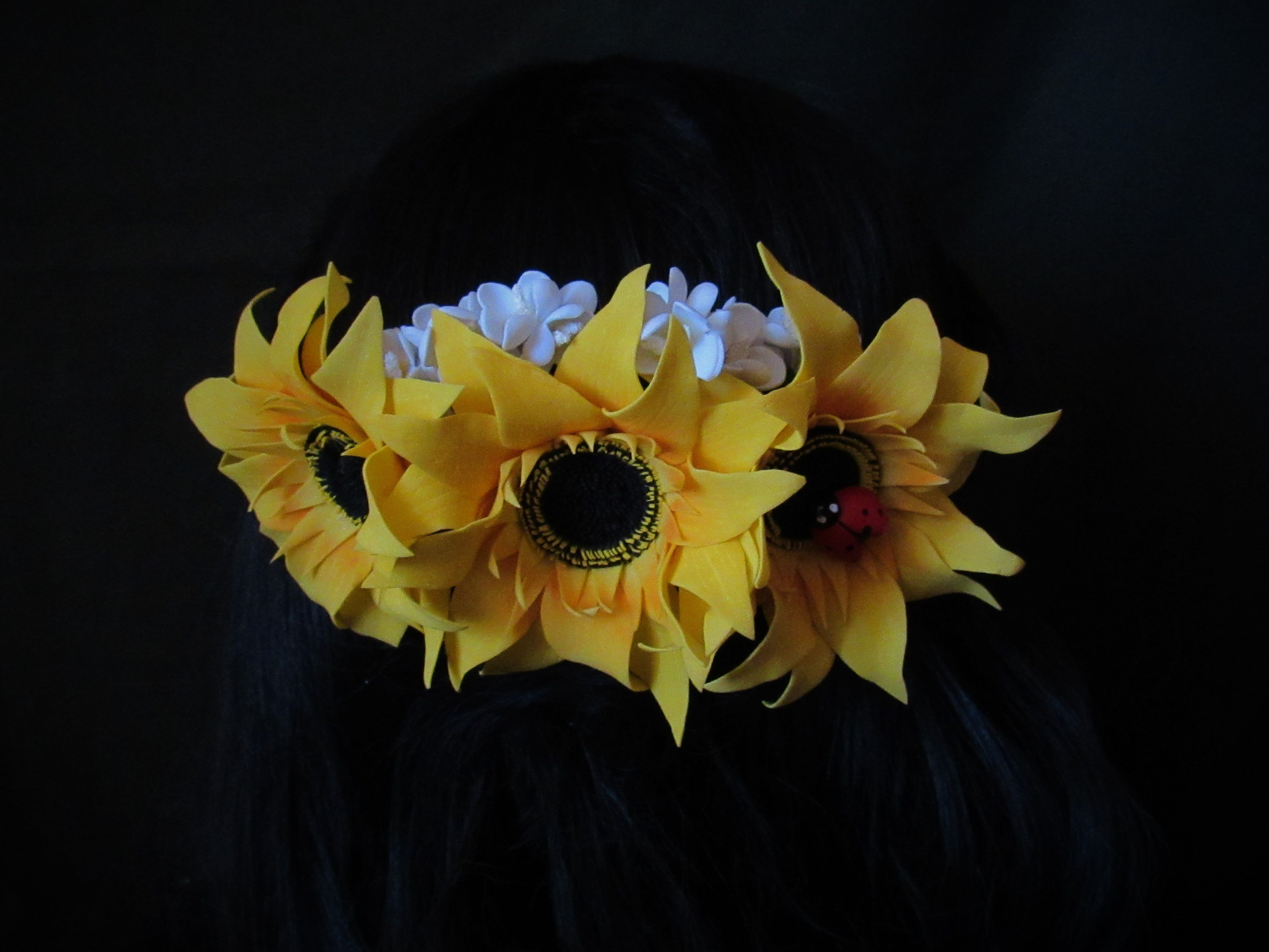 из подсолнухи фоамирана гребень цветы