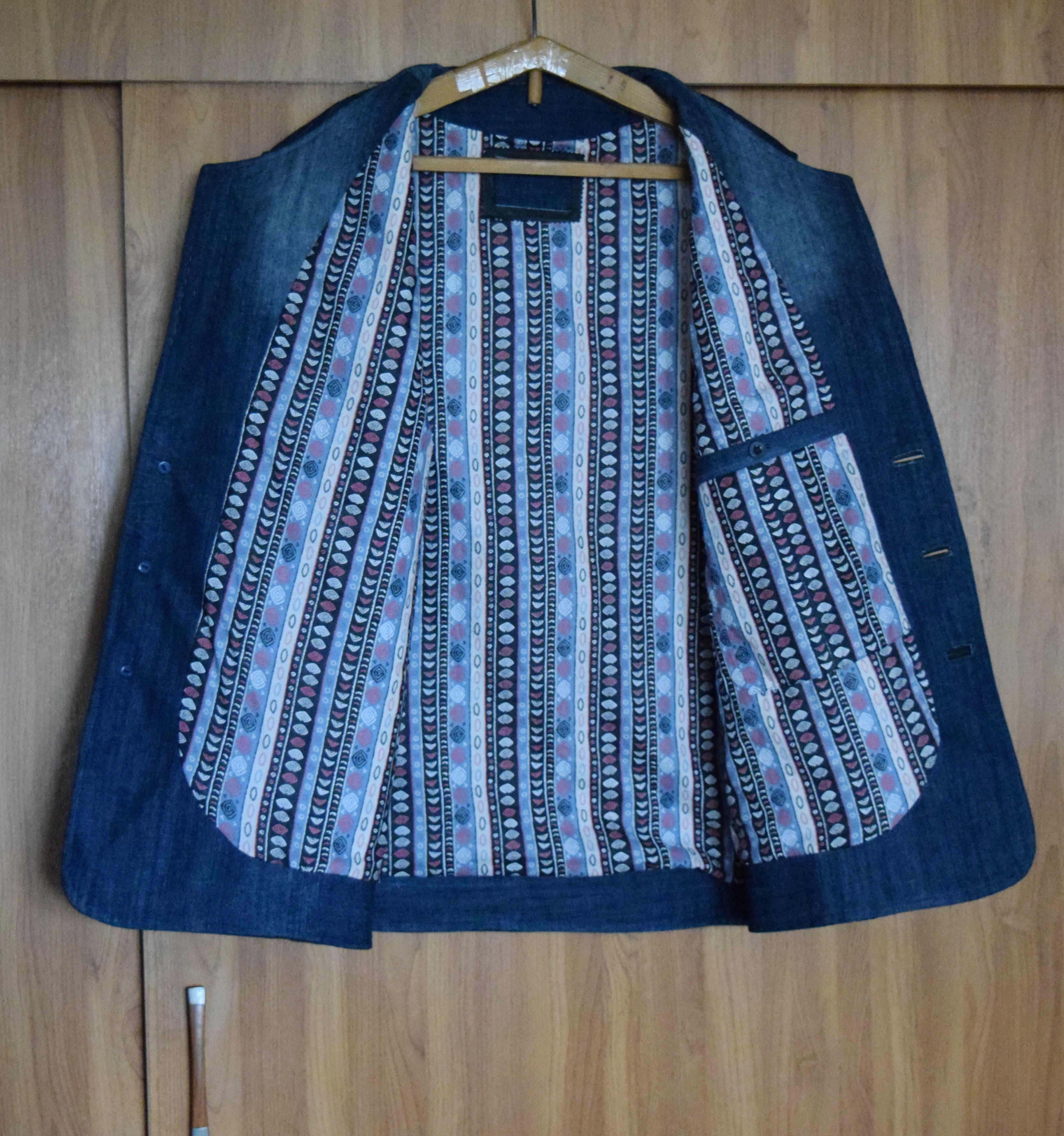 своимируками одежда купить hendmade креатив стиль пиджак кэжуал джинс кожа мода мужчинам