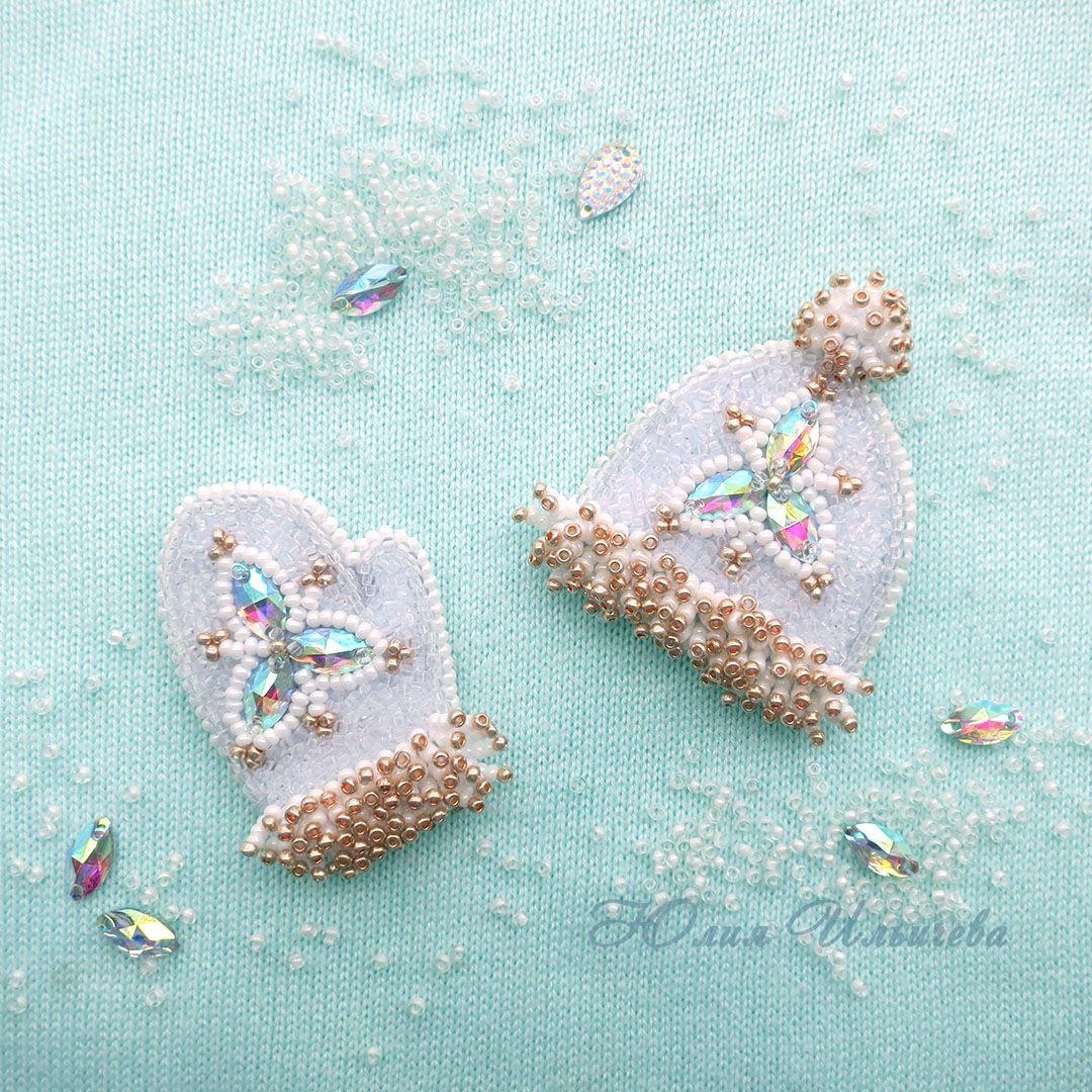 подарки вышивкабисером украшение брошь бисер