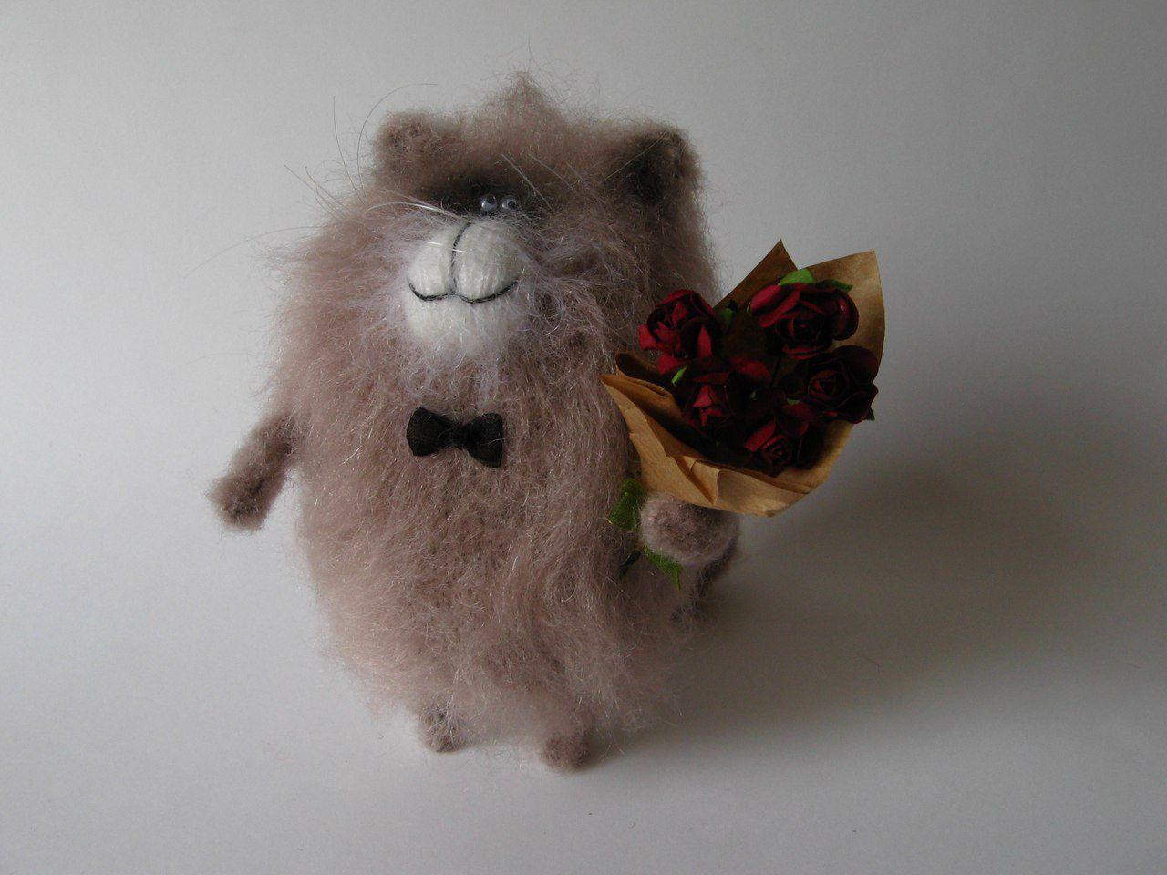игрушка год вязание декор ручная новый сюрприз интерьер праздник сувенир подарок работа приятный марта кот 8